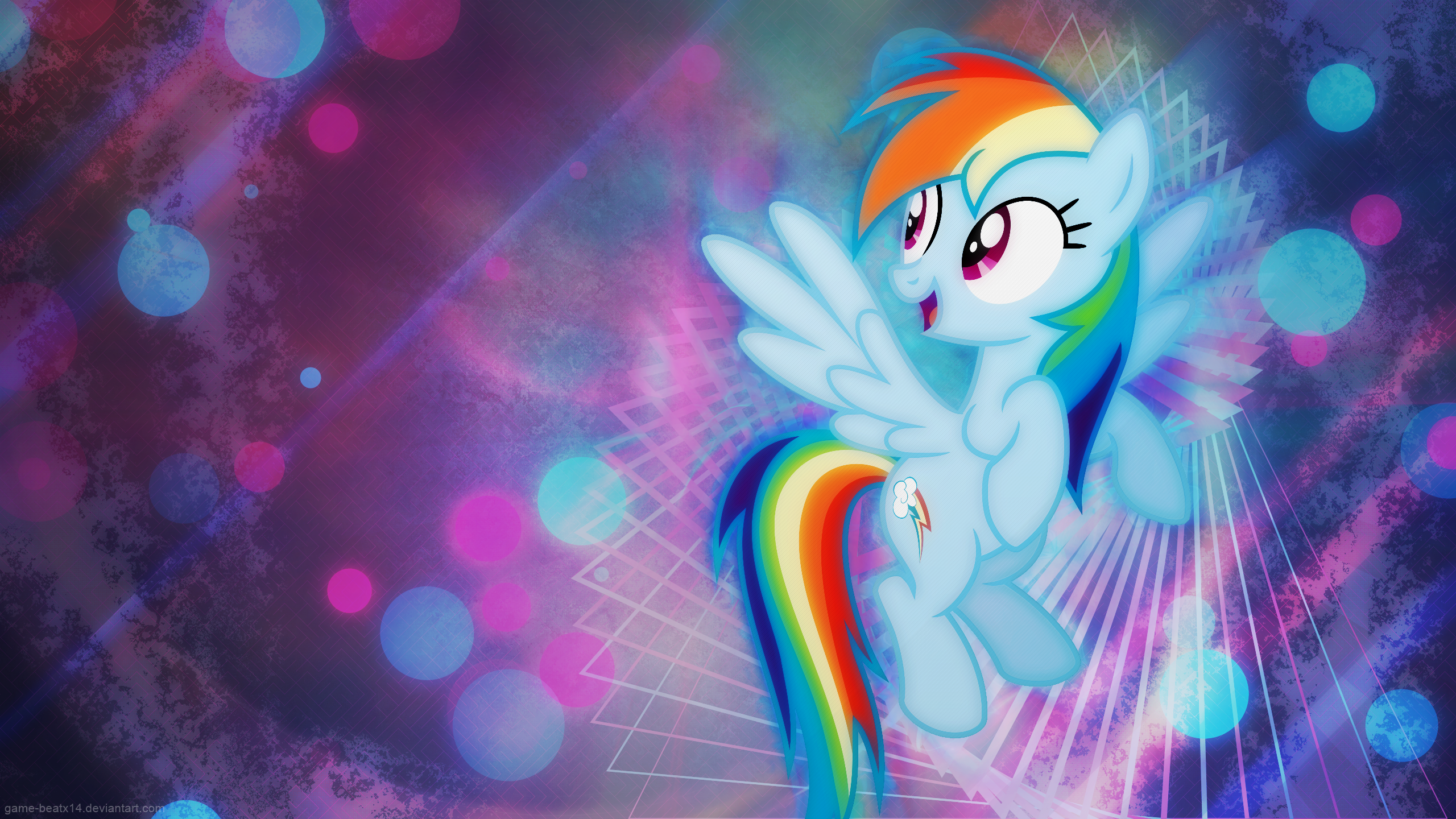 Rainbow Dash Vector My Little Pony 2560x1440