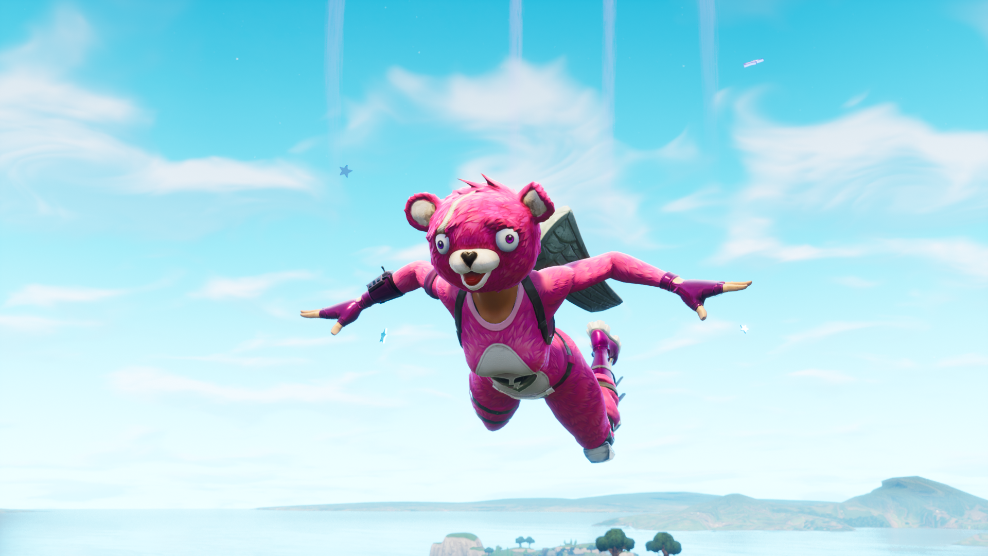 Fortnite Pink Video Games Teddy Bears Cyan Wallpaper Resolution 1920x1080 Id 142544 Wallha Com