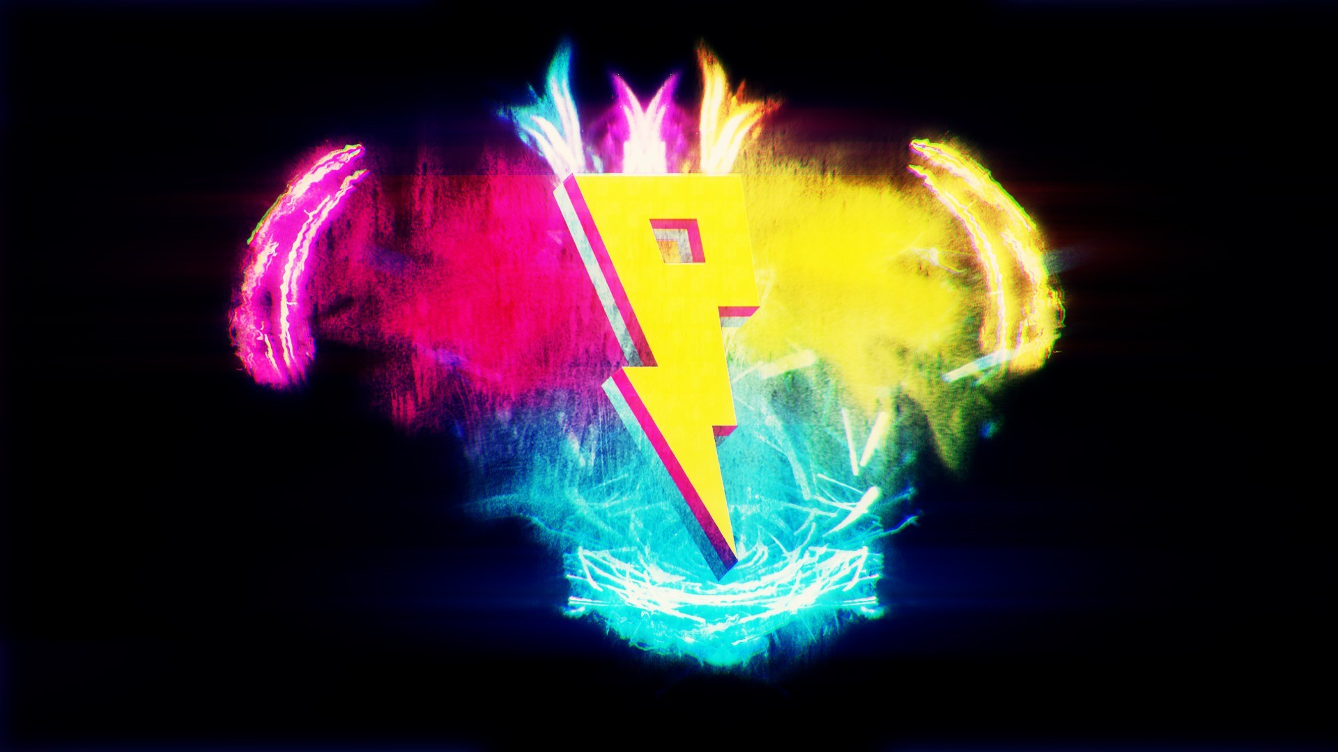 Logo Colorful Simple Background Digital Art 1920x1080