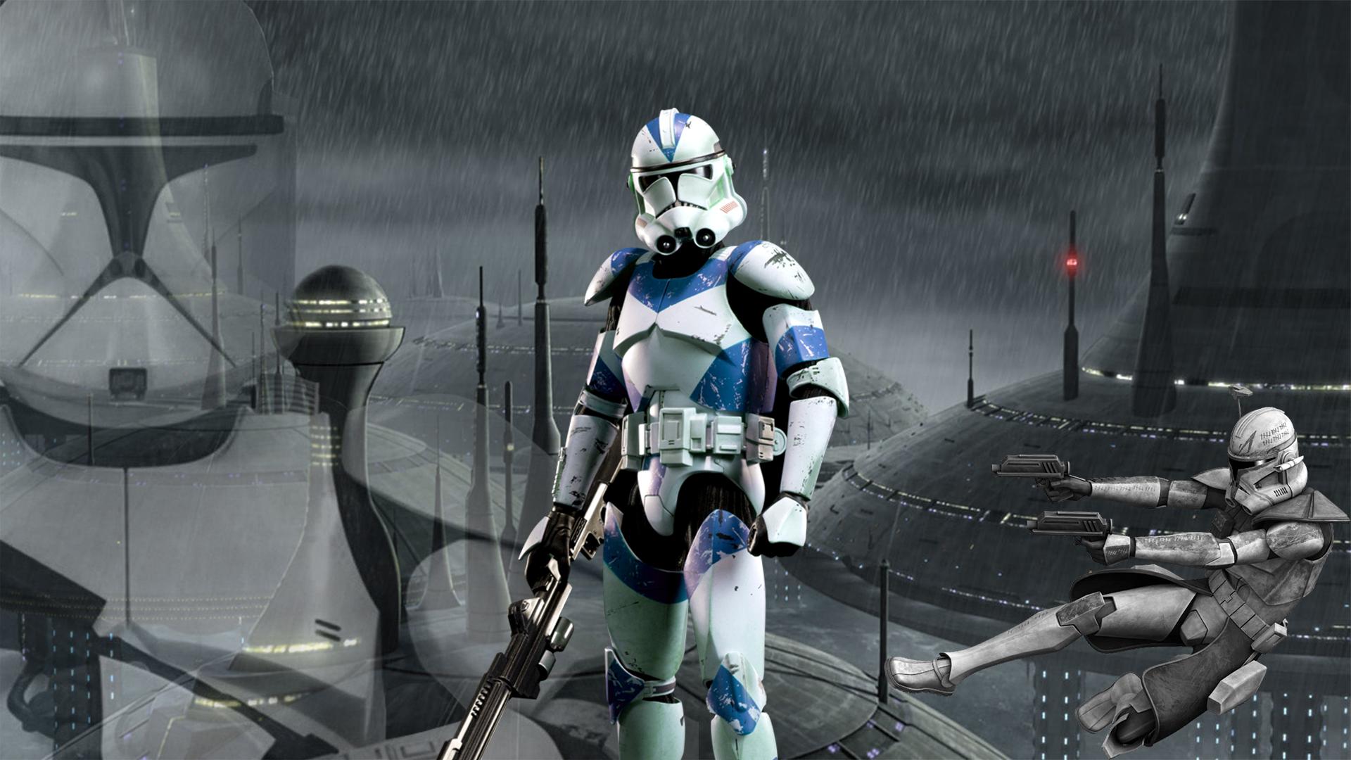 Clone Trooper Star Wars Science Fiction Rain Wallpaper Resolution 1920x1080 Id 130932 Wallha Com