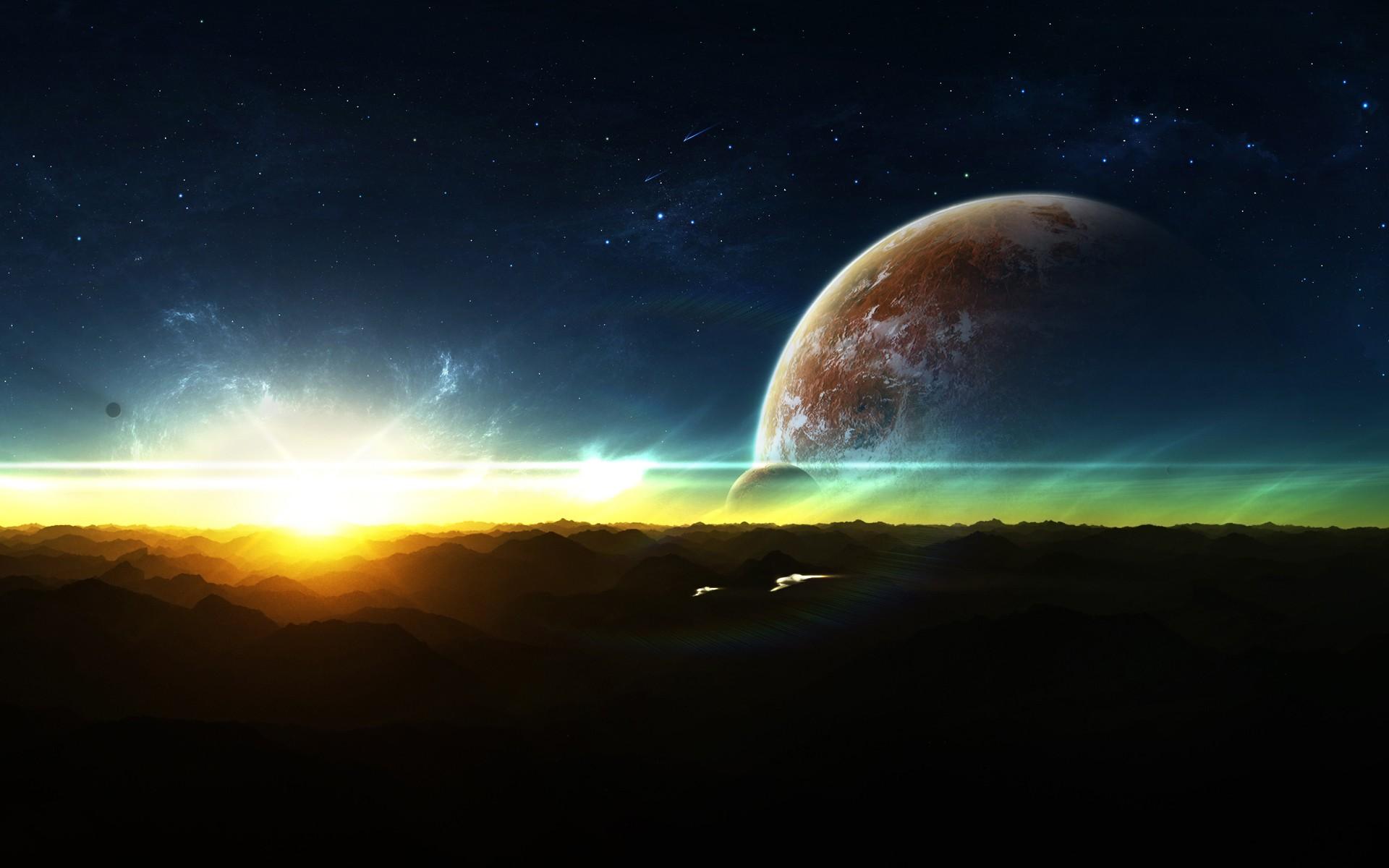 Sci Fi Sunrise 1920x1200