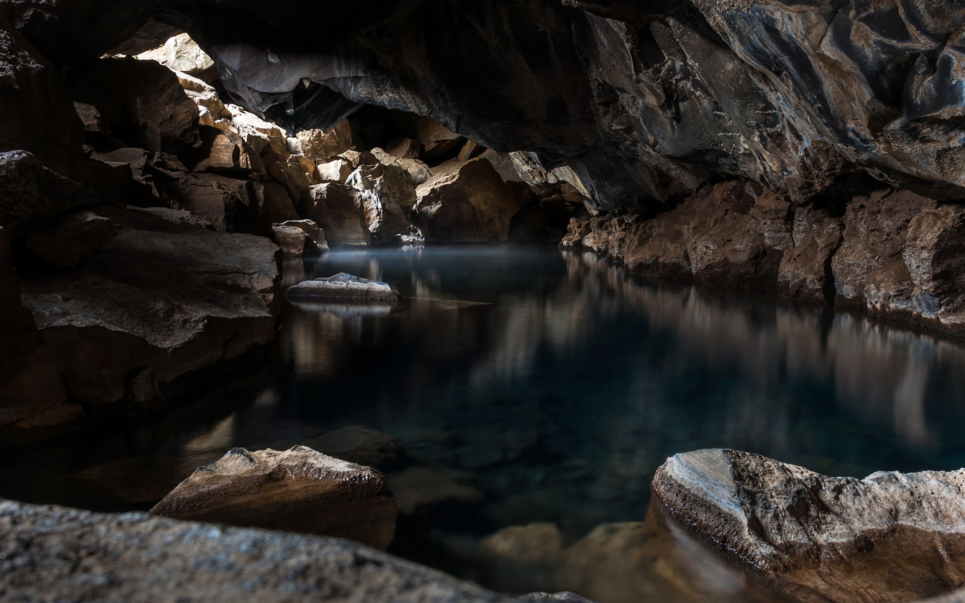 Cave Nature Water Rock 1920x1200