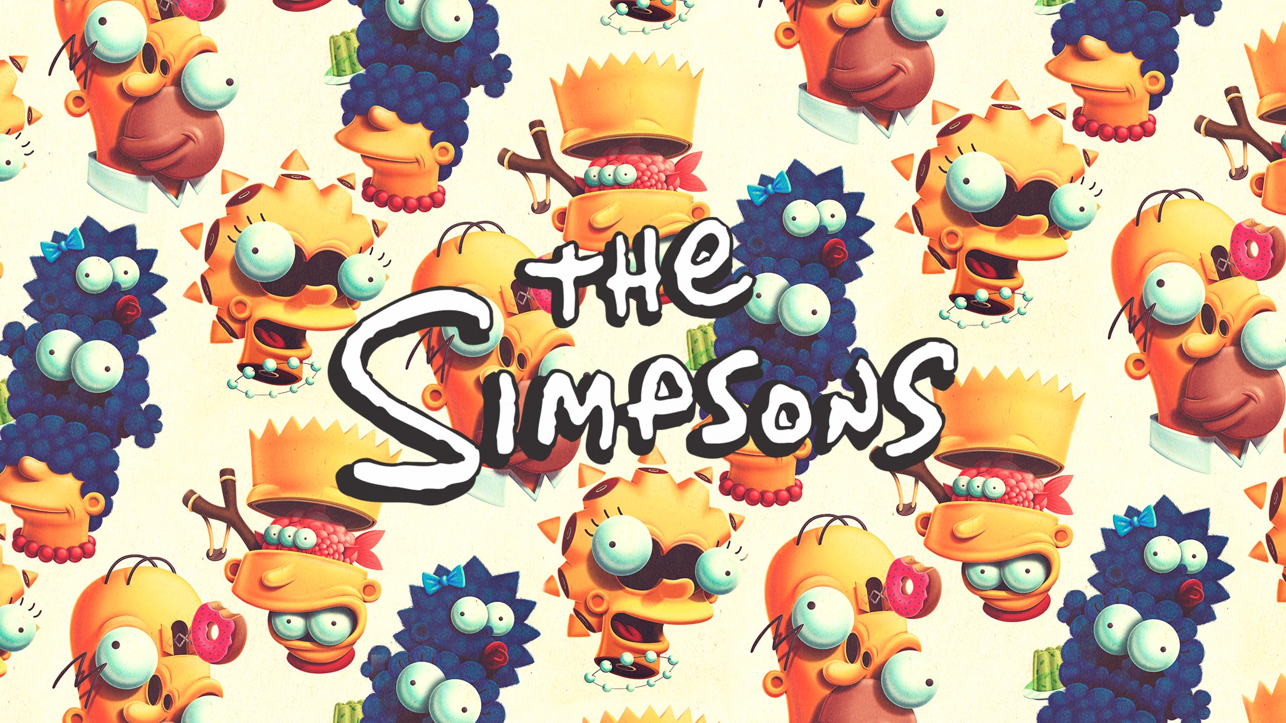 Juan Carlos Paz BAKEA The Simpsons Fan Art Marge Simpson Homer Simpson Lisa Simpson Maggie Simpson B 2560x1440