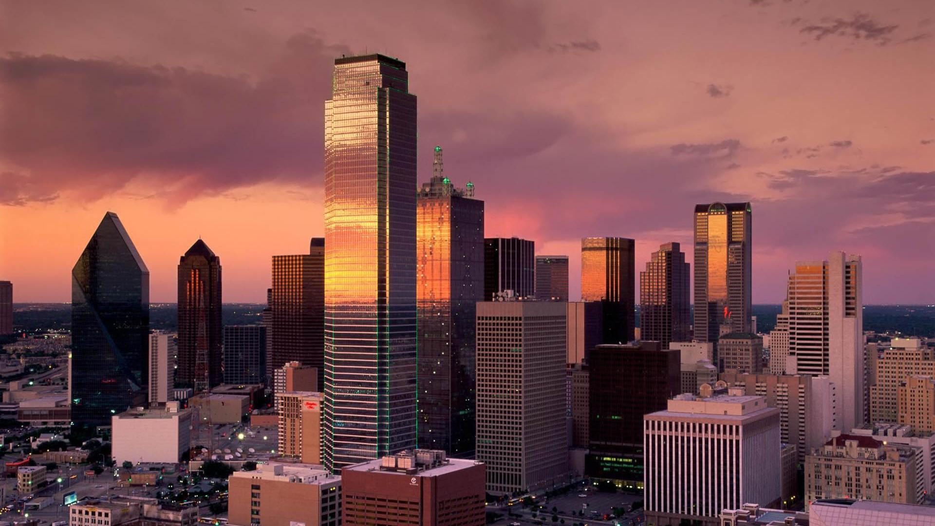 Texas City Skyscraper Building 1920x1080