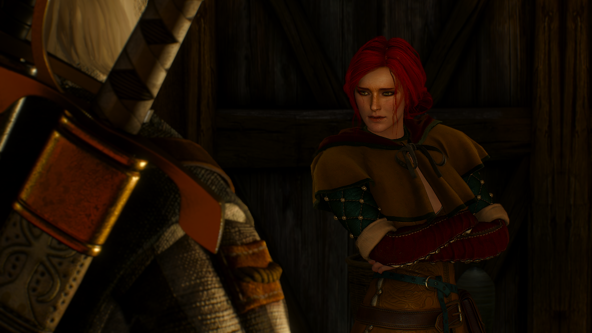 The Witcher 3 Wild Hunt Triss Merigold Geralt Of Rivia The Witcher Video Games 1920x1080
