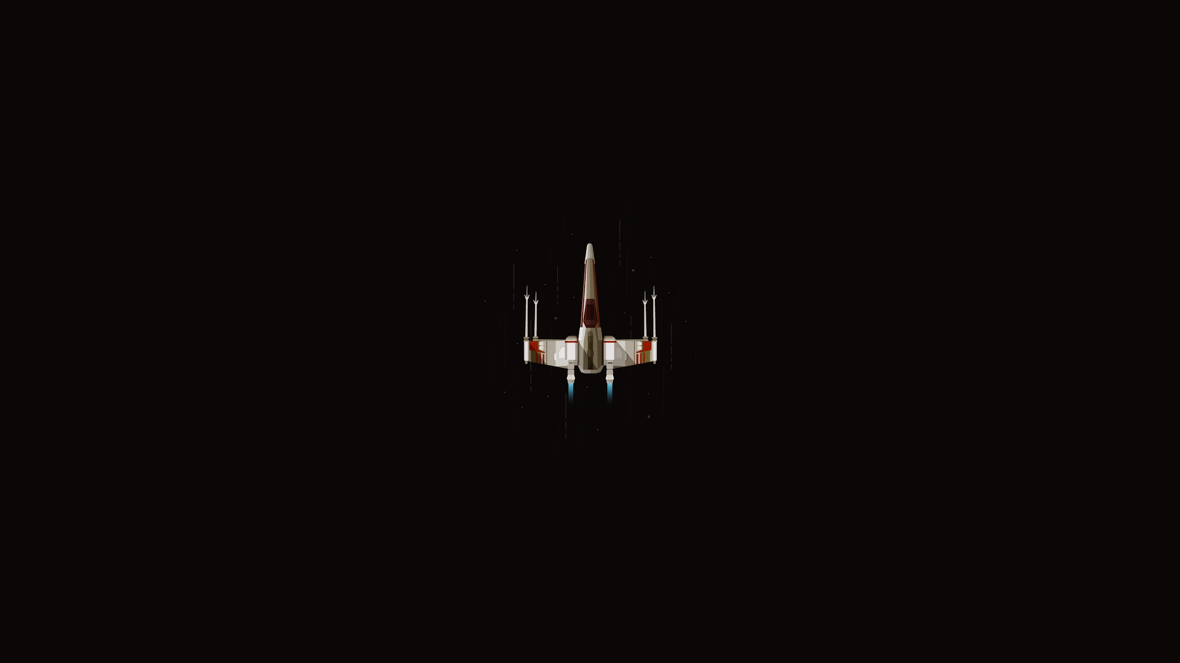 Star Wars X Wing Minimalism Simple Star Wars Ships Science Fiction 3840x2160