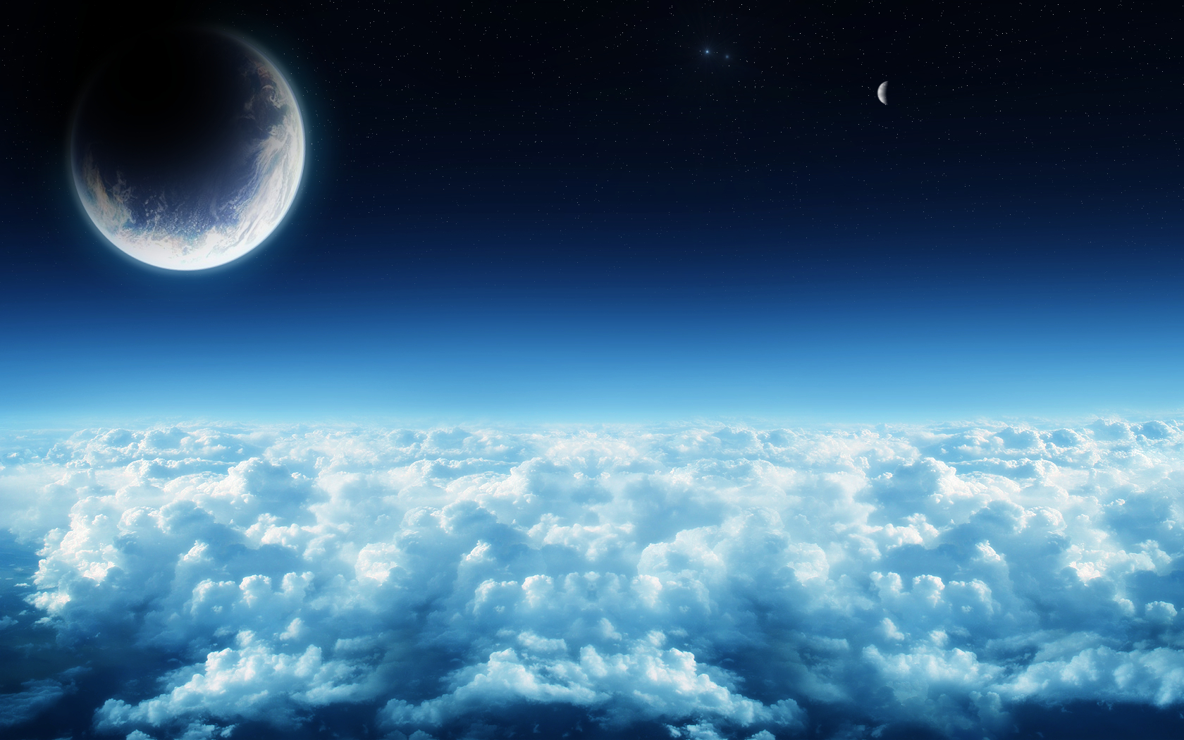 Planet Space Cloud 1680x1050