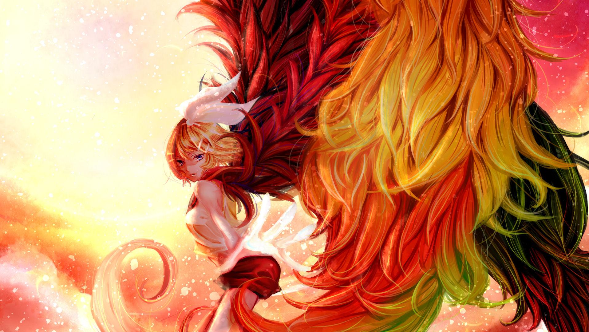 Rin Kagamine Wings Girl 1916x1080