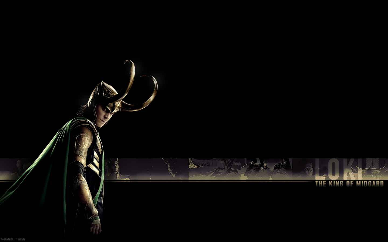Loki Tom Hiddleston Movies The Avengers Black Background Marvel Cinematic Universe 1440x900