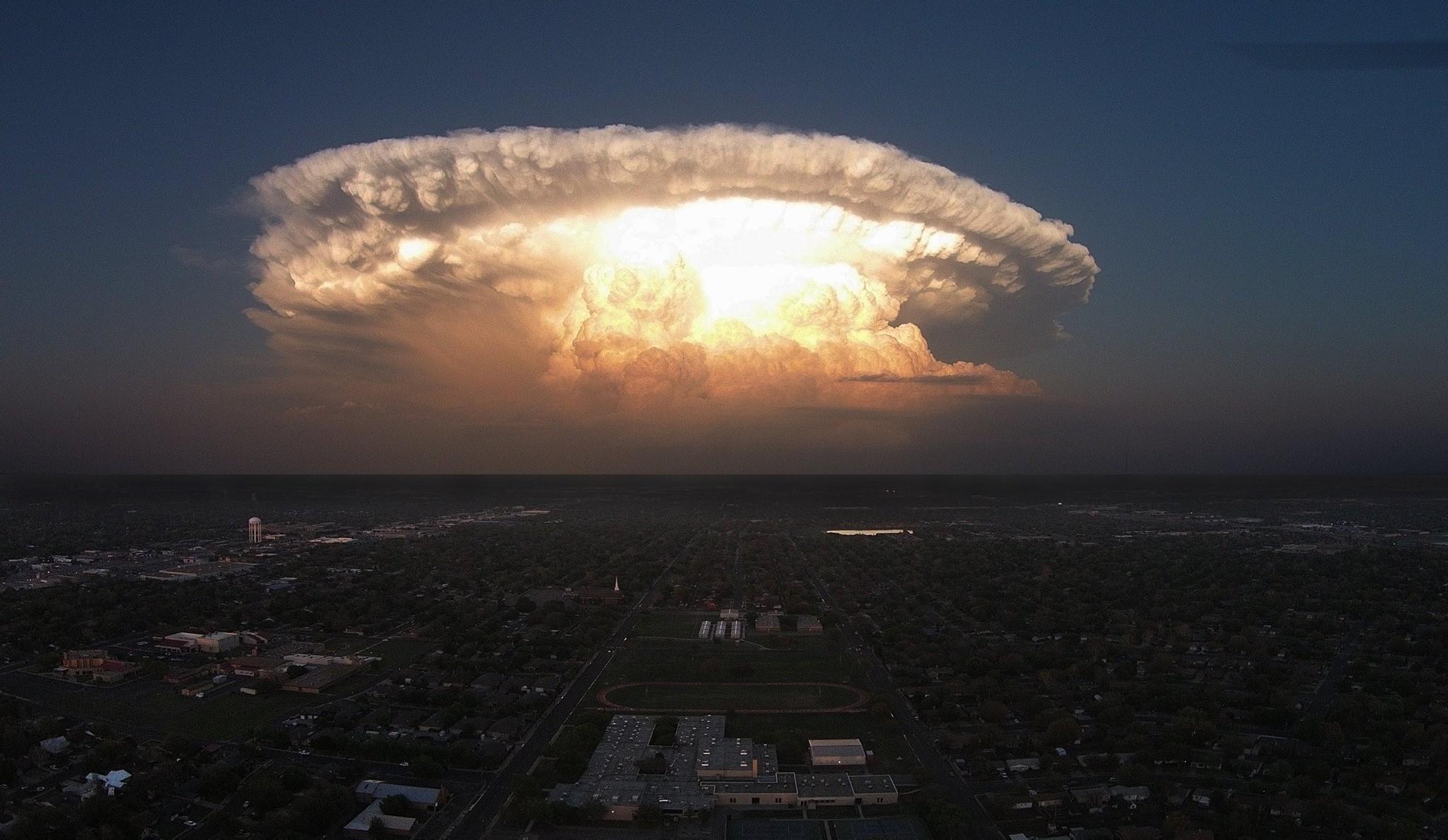 Supercell Nature Storm Clouds Texas Cityscape Nature Lights Landscape Wallpaper Resolution 2048x1188 Id 204372 Wallha Com