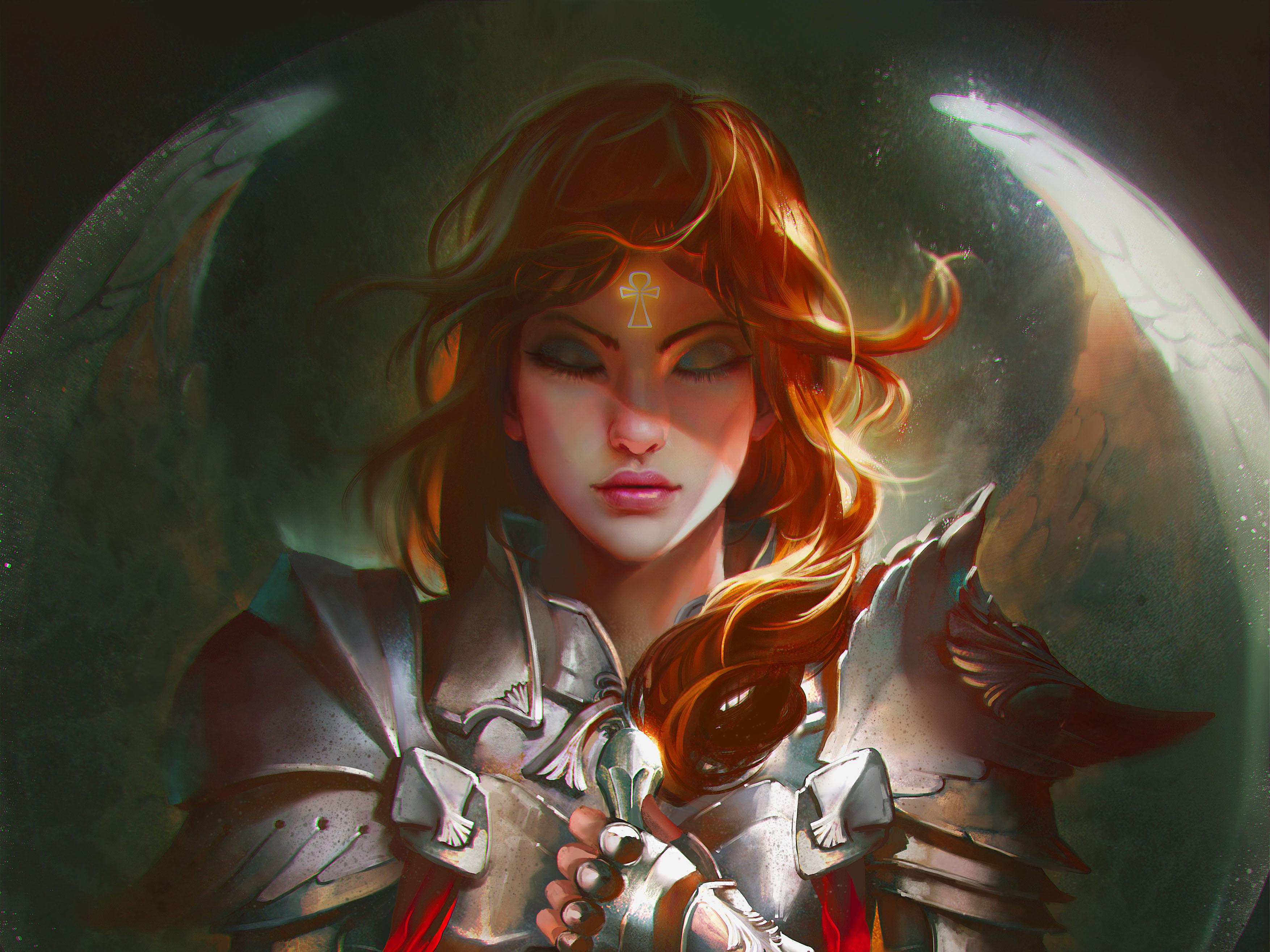 Fantasy Woman Warrior Girl Armor 3508x2631