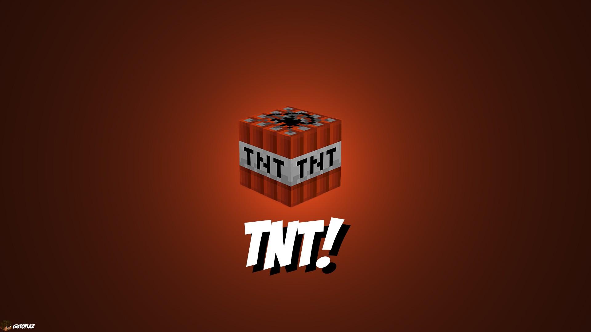 TNT Orange Color Minecraft 1920x1080