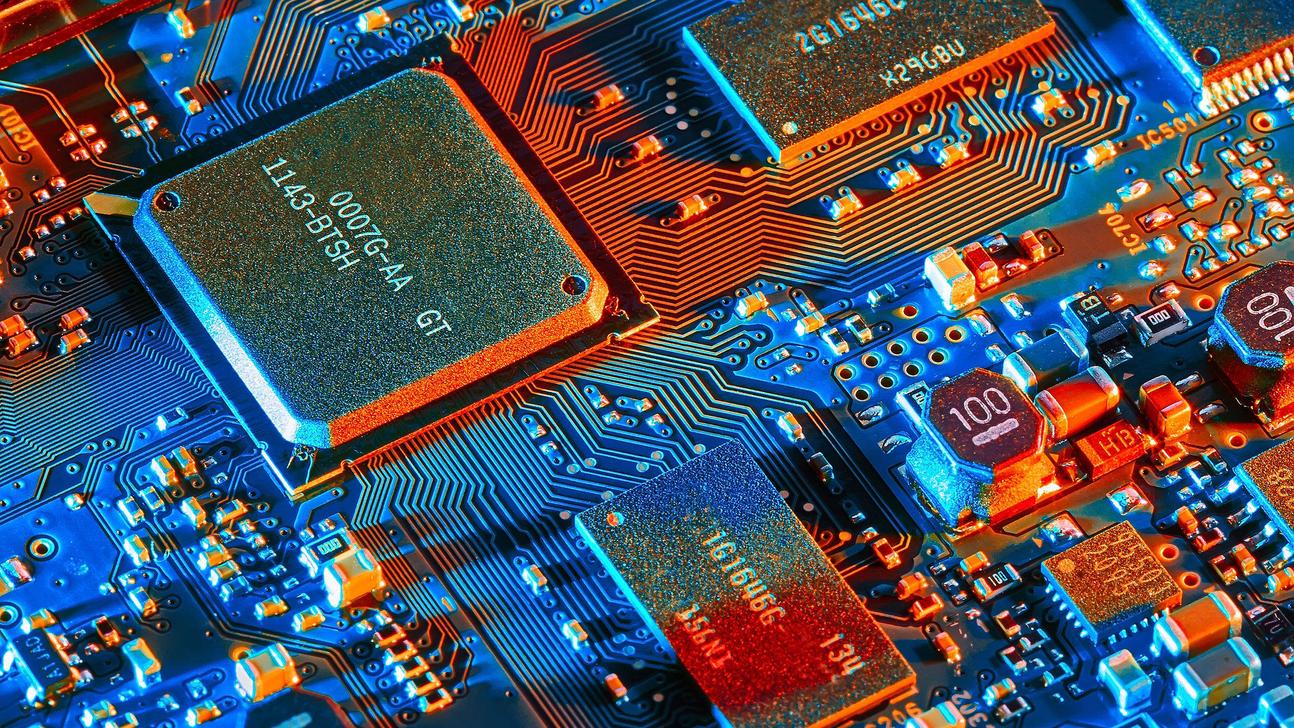 Circuit Boards Integrated Circuits Technology Chips 2560x1440