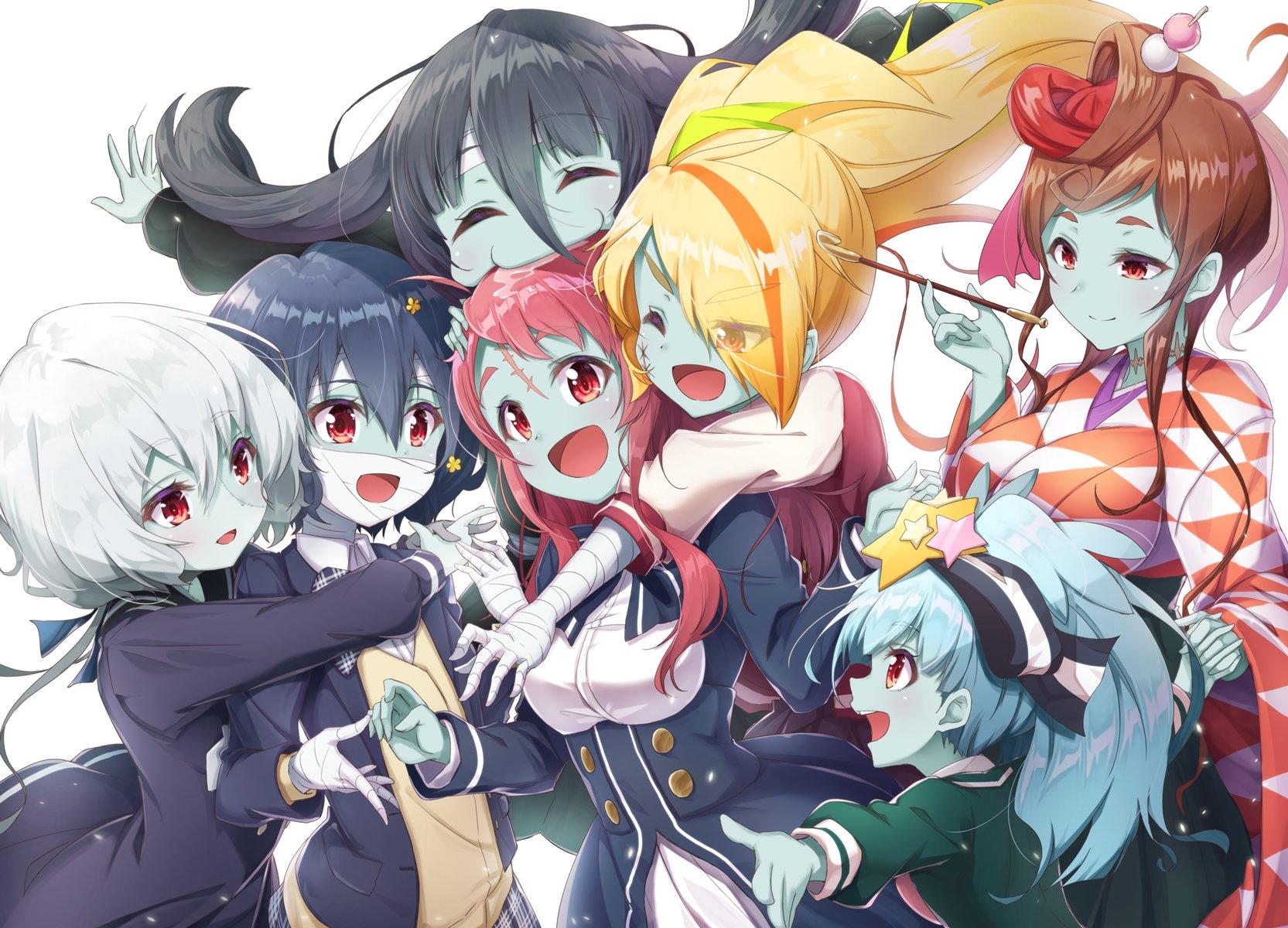 Zombieland Saga Anime Girls Zombie 0 Tae Yamada Zombie 1 Sakura Minamoto Zombie 2 Saki Nikaidou Zomb Wallpaper Resolution 1665x1200 Id 352433 Wallha Com