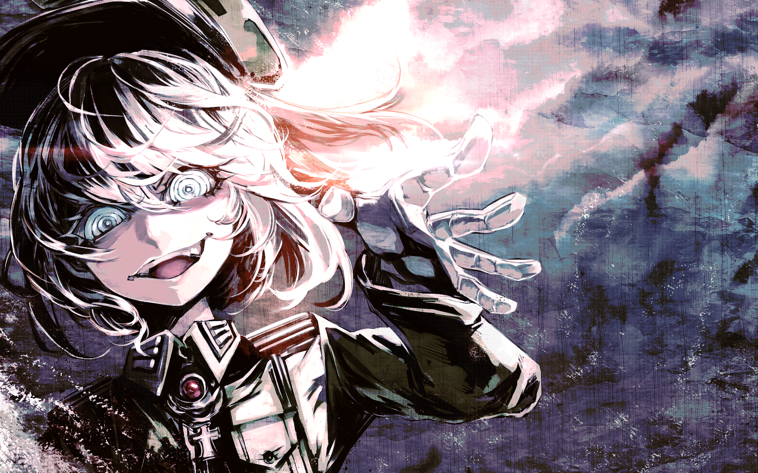 Anime Anime Girls Youjo Senki Tanya Degurechaff Crazy Face Blond Hair Blue Eyes Wallpaper Resolution 2560x1600 Id 351510 Wallha Com Some characters just need a way to show off how undeniably evil they are. anime anime girls youjo senki tanya