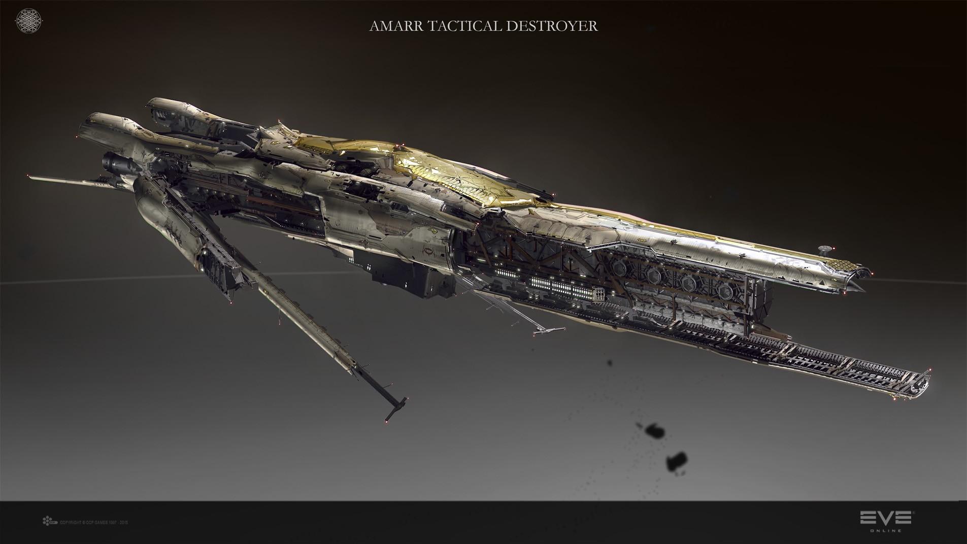EVE Online Spaceship Amarr 1905x1072