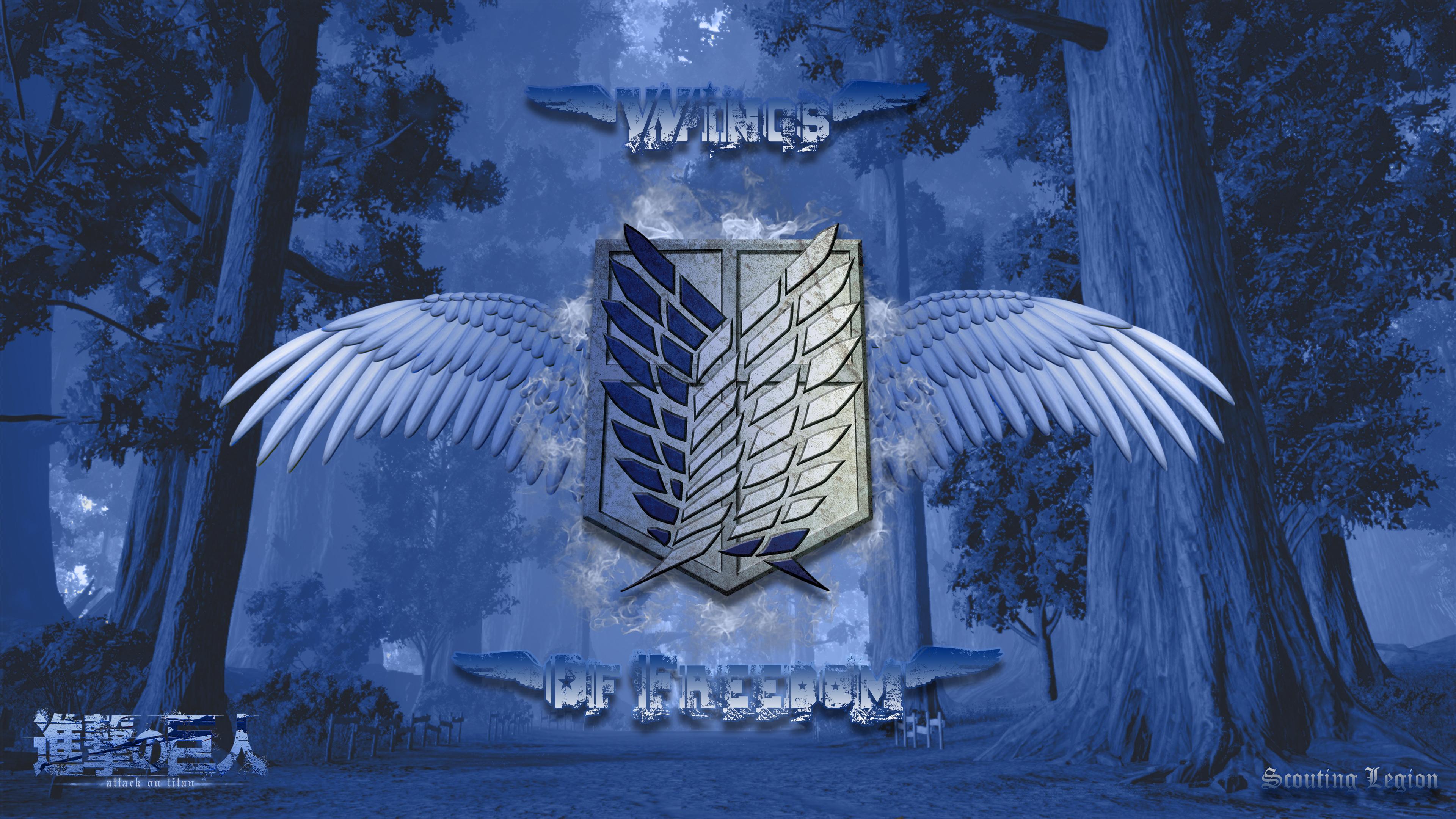 Attack On Titan Scouting Legion Wings Of Freedom Wallpaper Resolution 3840x2160 Id 314061 Wallha Com