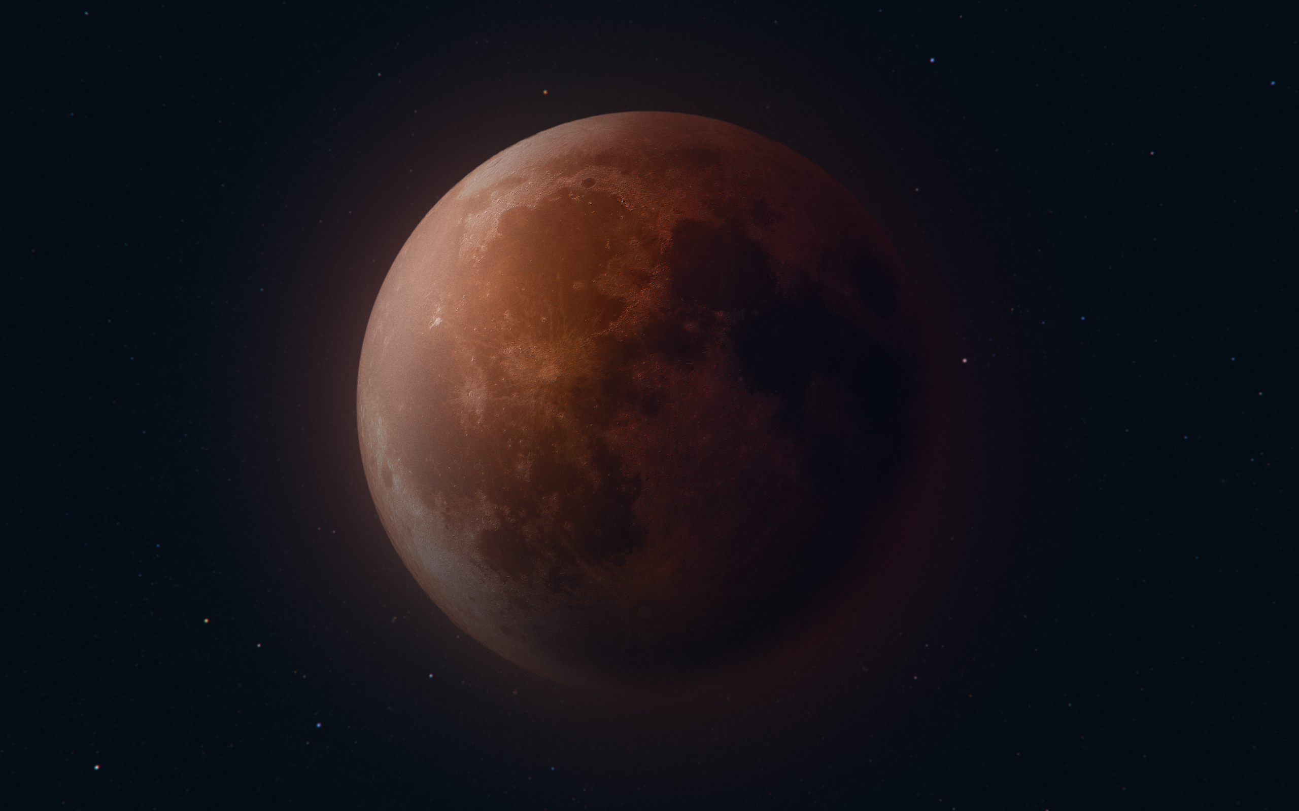 Blood Moon Planet Space 2560x1600