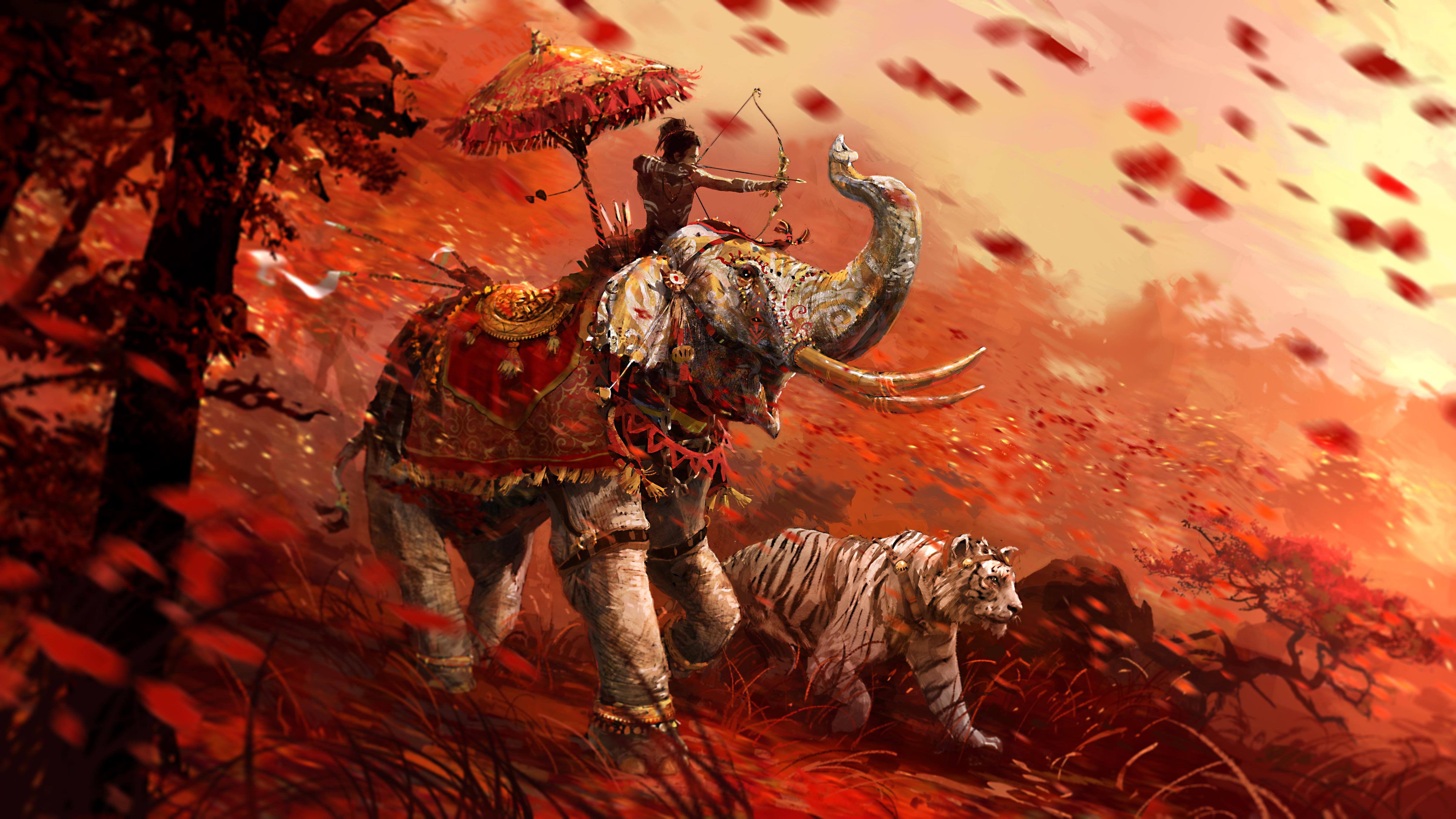 Tiger Elephant Far Cry 4 Far Cry 4800x2700