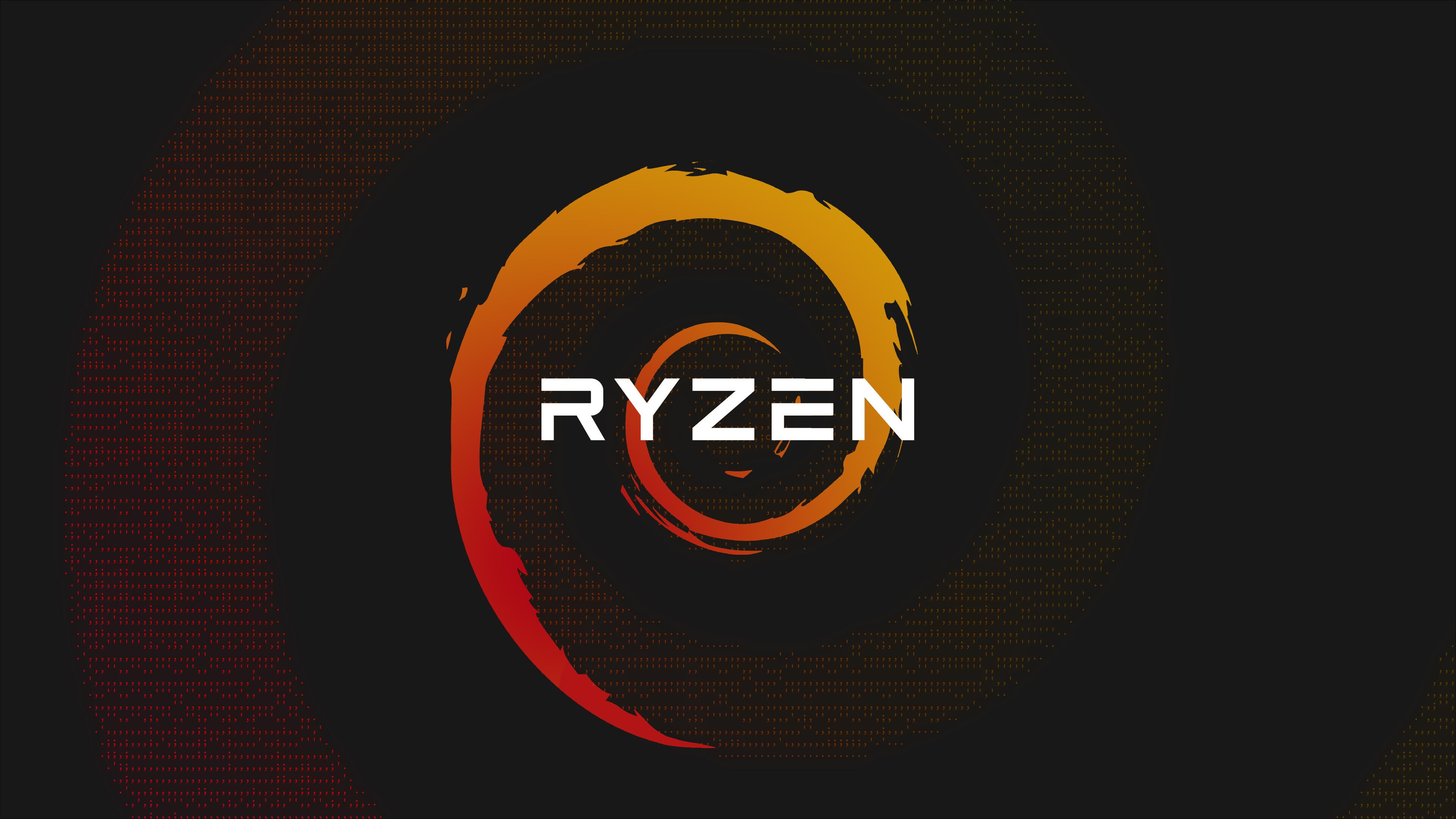 Ryzen Red Yellow Tech Technology Amd Wallpaper Resolution 3840x2160 Id 400281 Wallha Com