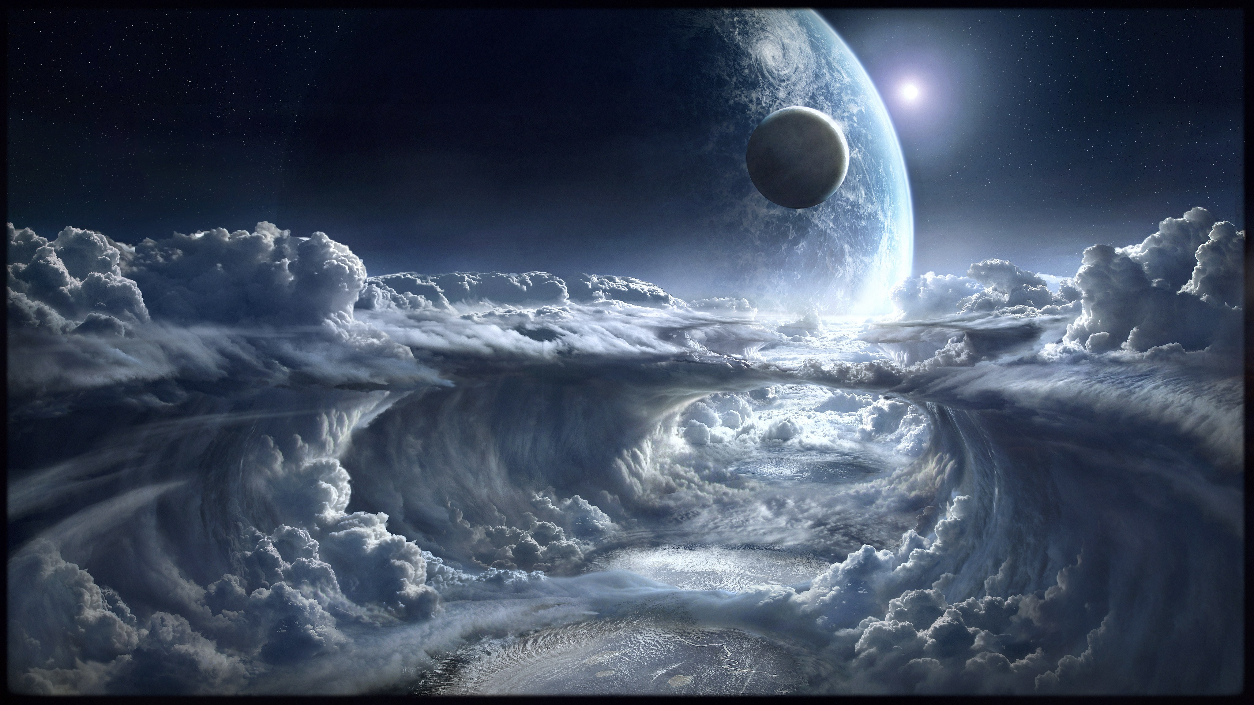 Sci Fi Space Planet Cloud 4096x2304