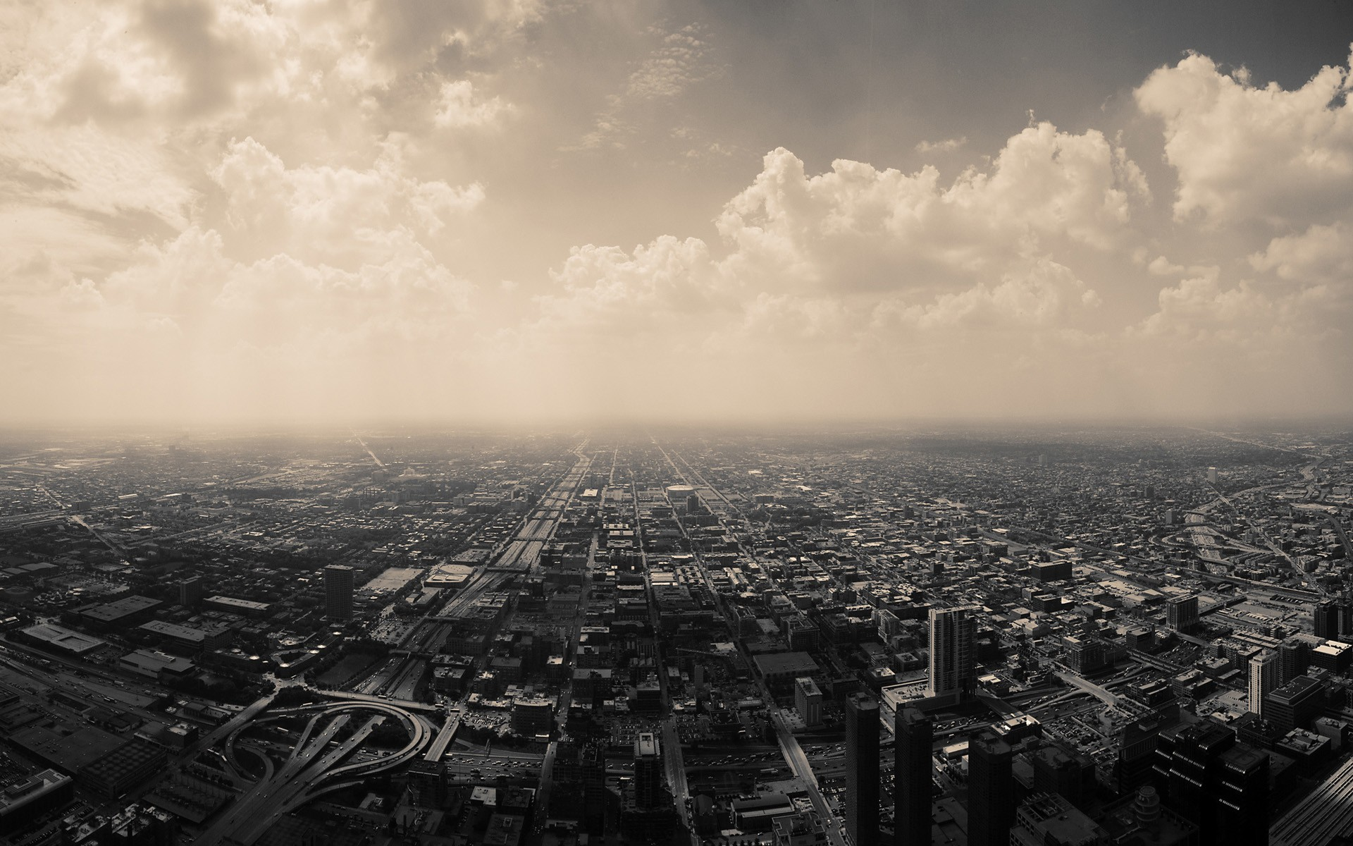 Chicago Cityscape Sky Clouds USA City Building 1920x1200