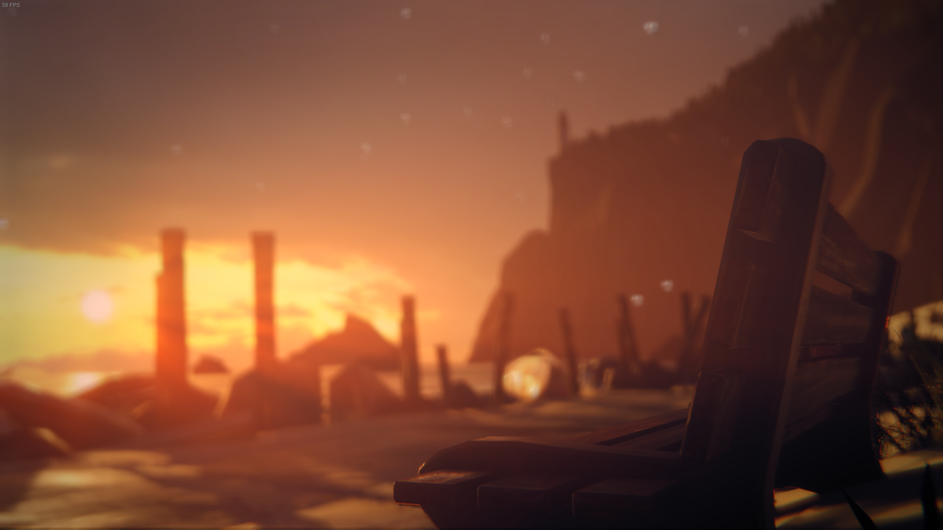 Life Is Strange Depth Of Field Bench Sunset 1920x1080
