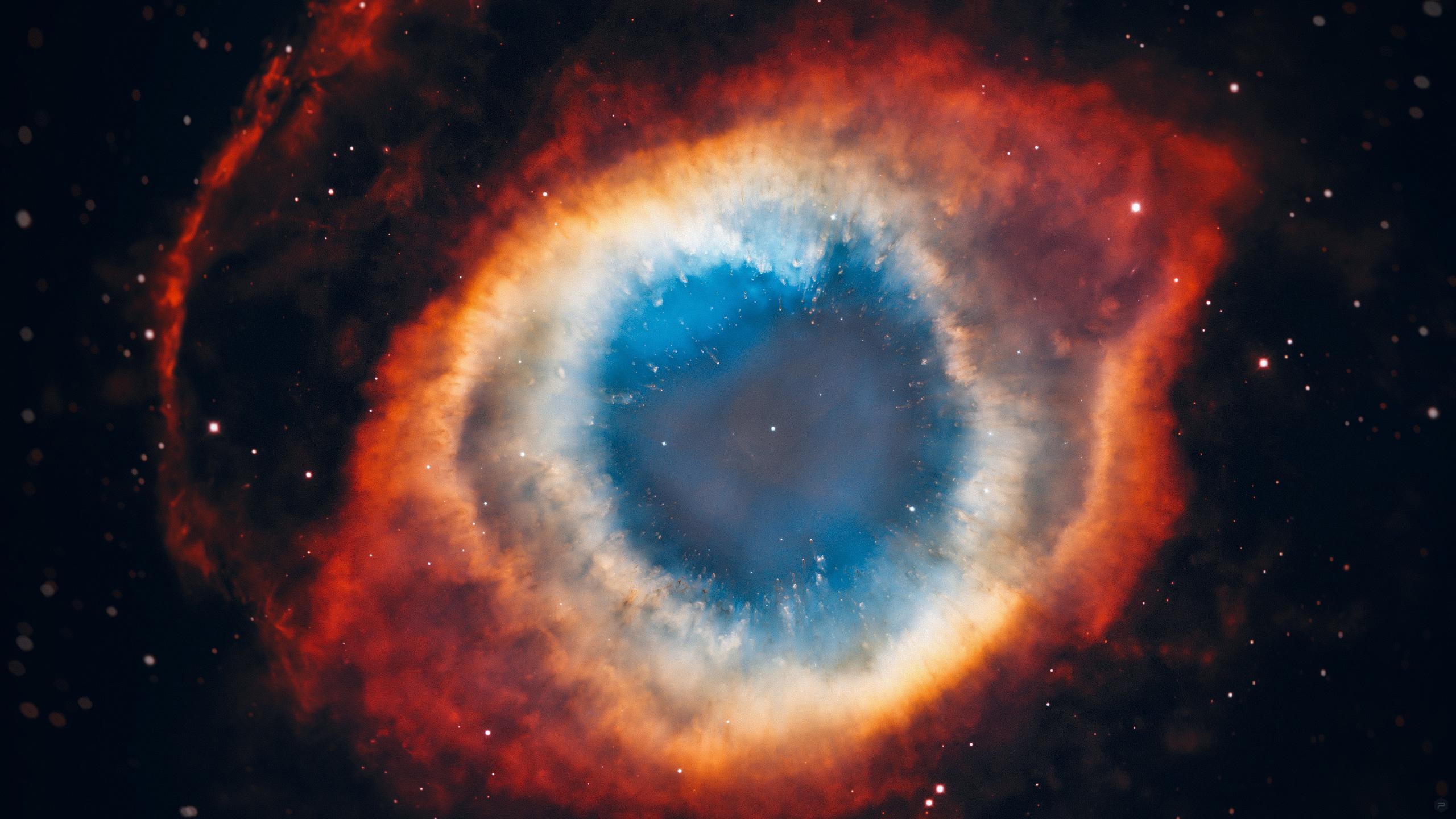 Space Hubble Science Universe NASA Helix Nebula 2560x1440