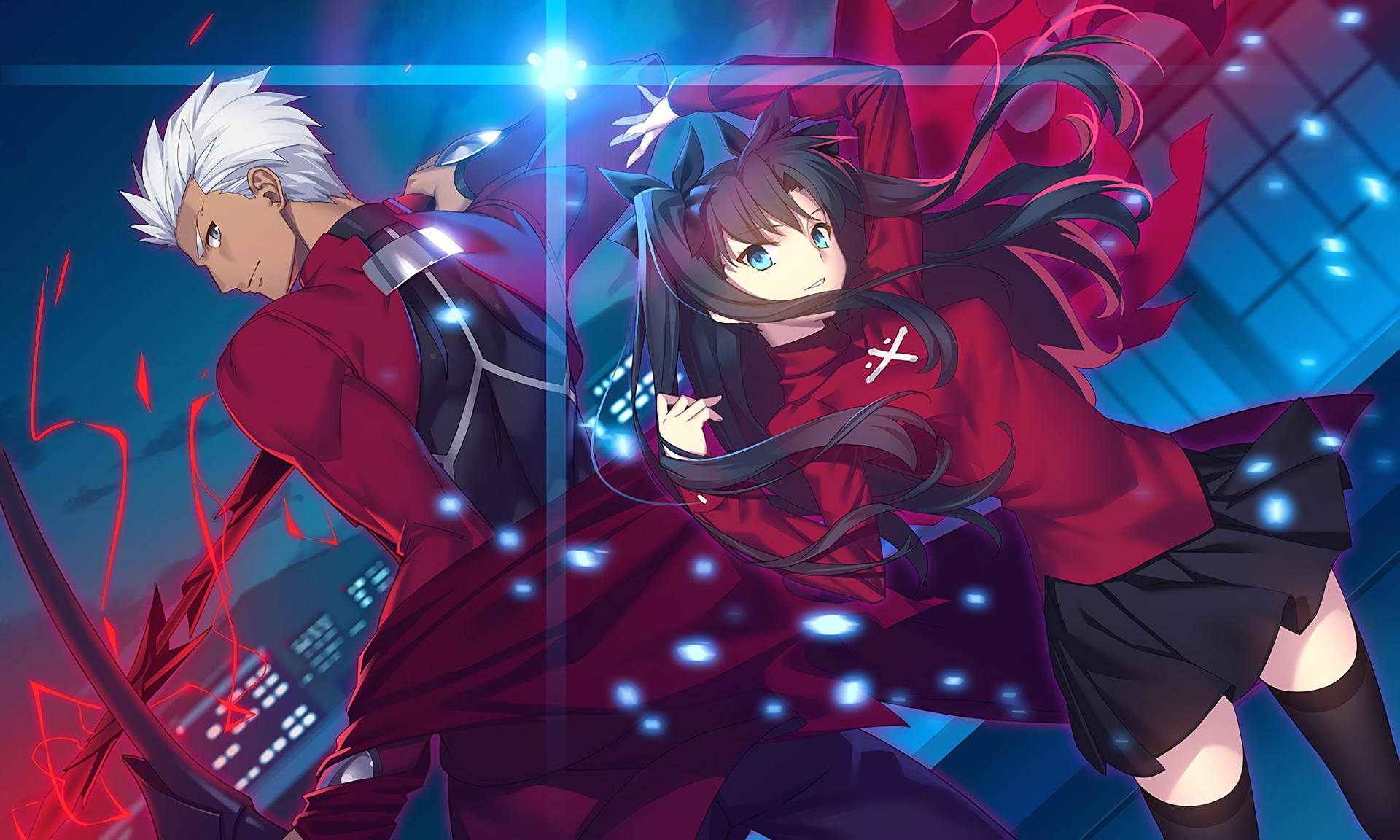 Archer Fate Stay Night Rin Tohsaka Fate Stay Night Unlimited Blade