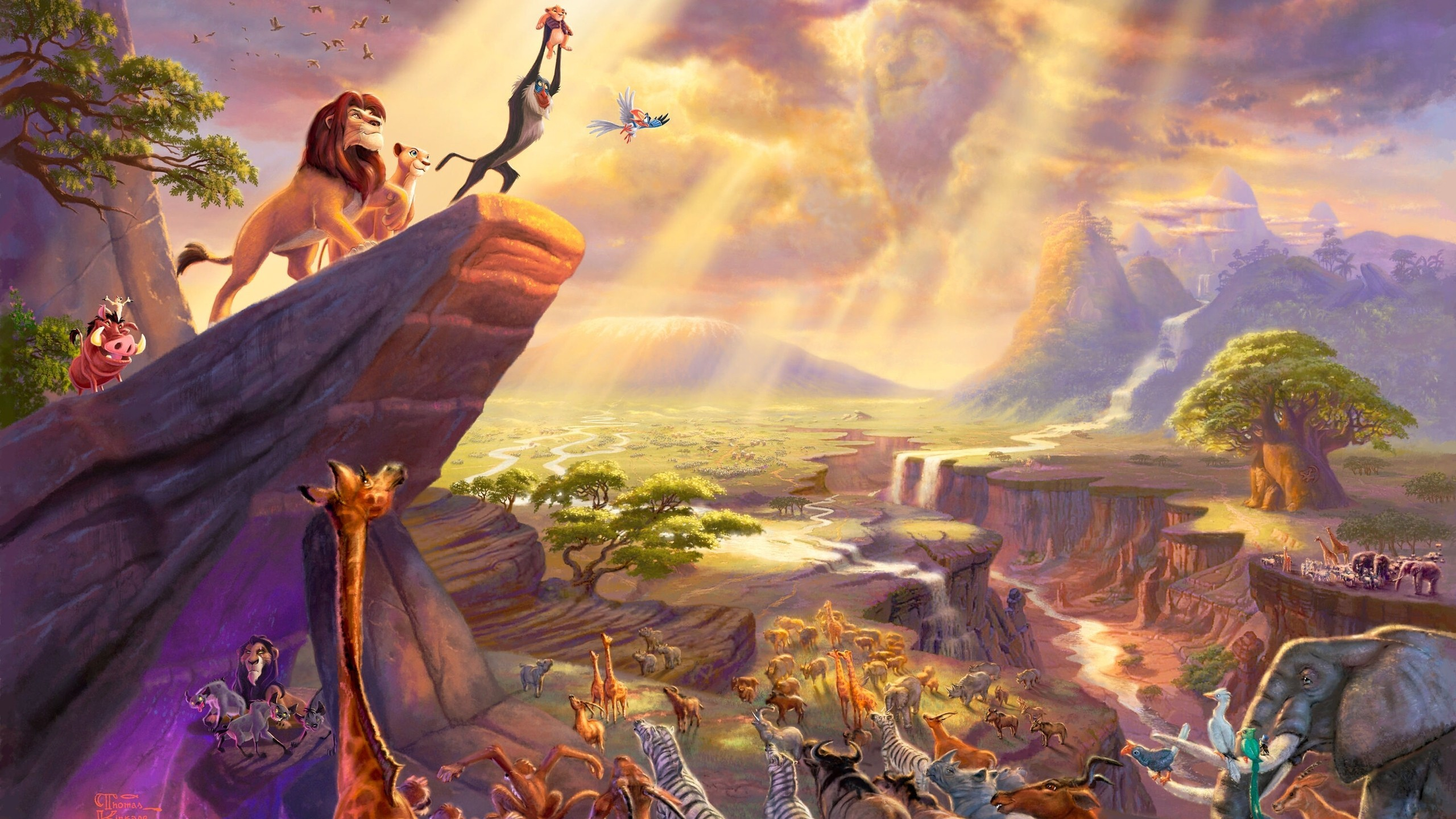 The Lion King Rafiki Disney Timon Pumba Zazu 2560x1440
