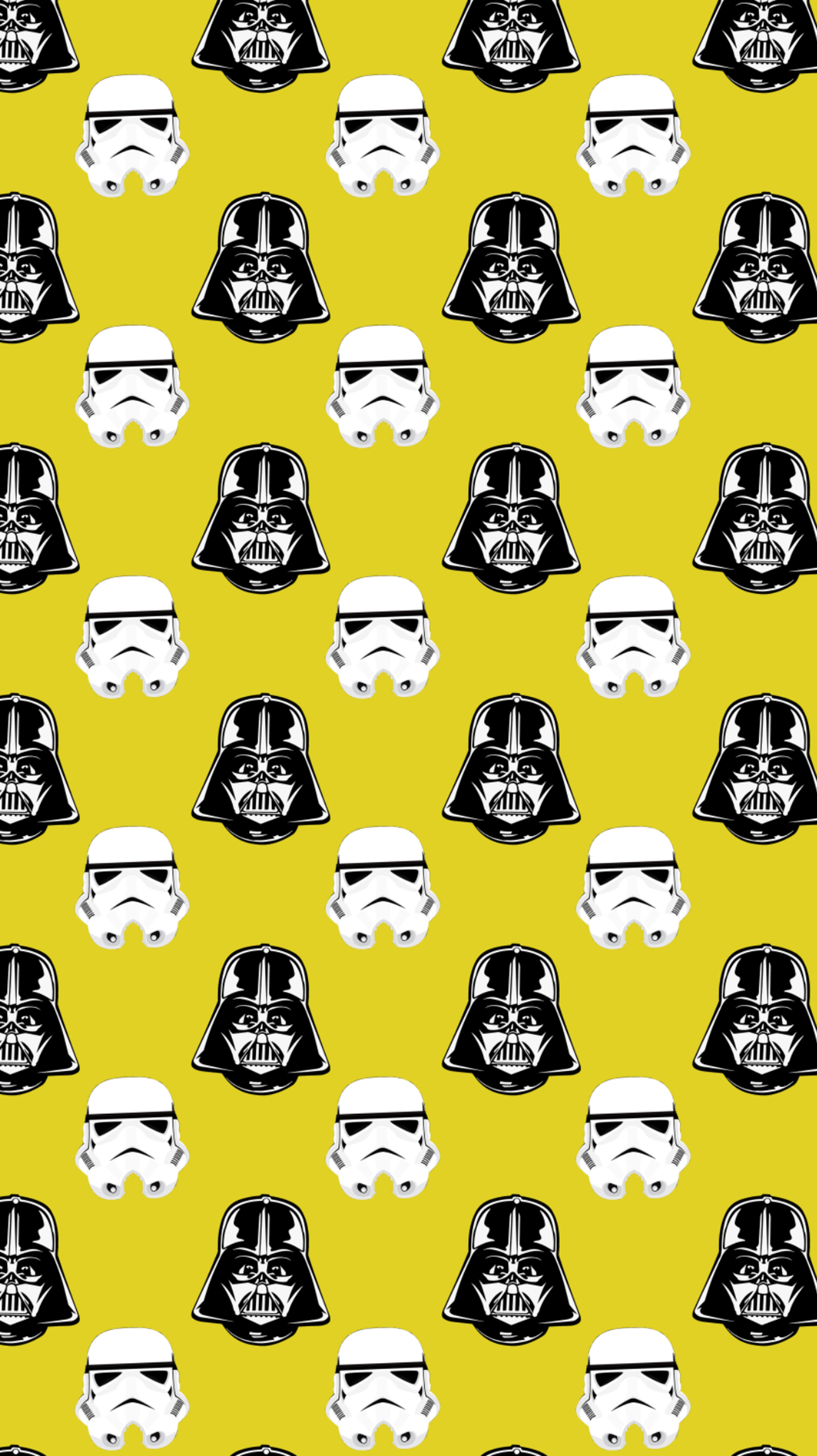 Star Wars Darth Vader Stormtrooper Pattern Yellow Yellow Background Wallpaper Resolution 3381x6024 Id 575901 Wallha Com