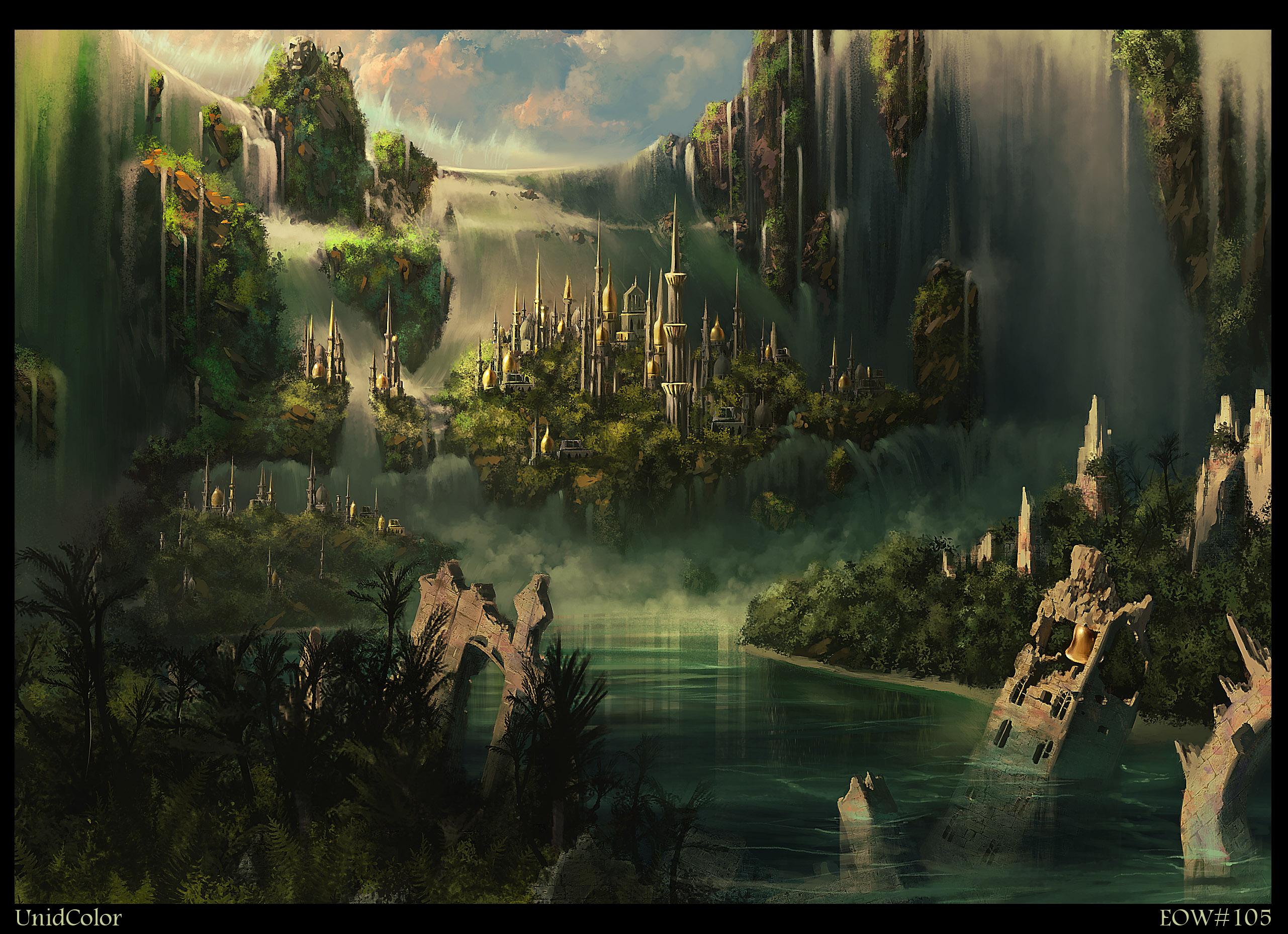 Fantasy City Ruin Castle 2562x1857