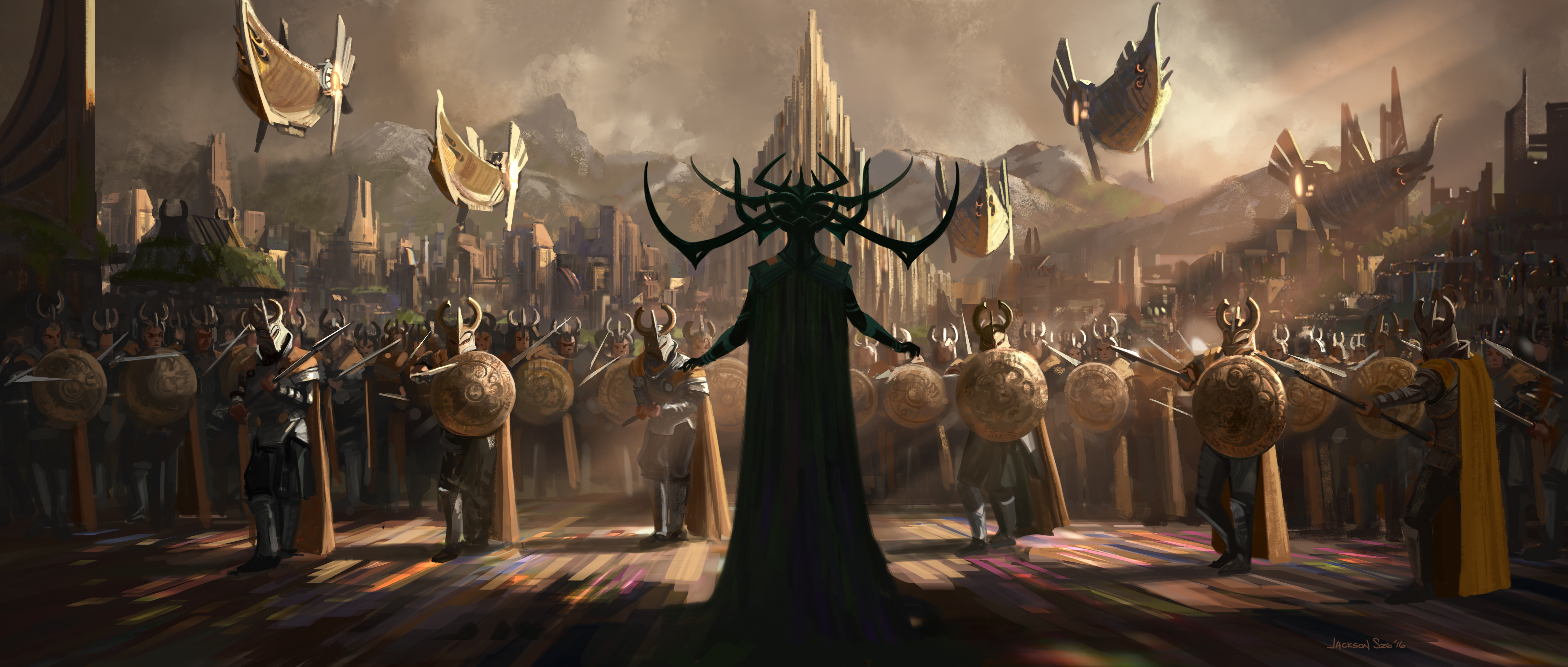 Hela Marvel Comics Thor Ragnarok Thor Marvel Comics 5640x2400