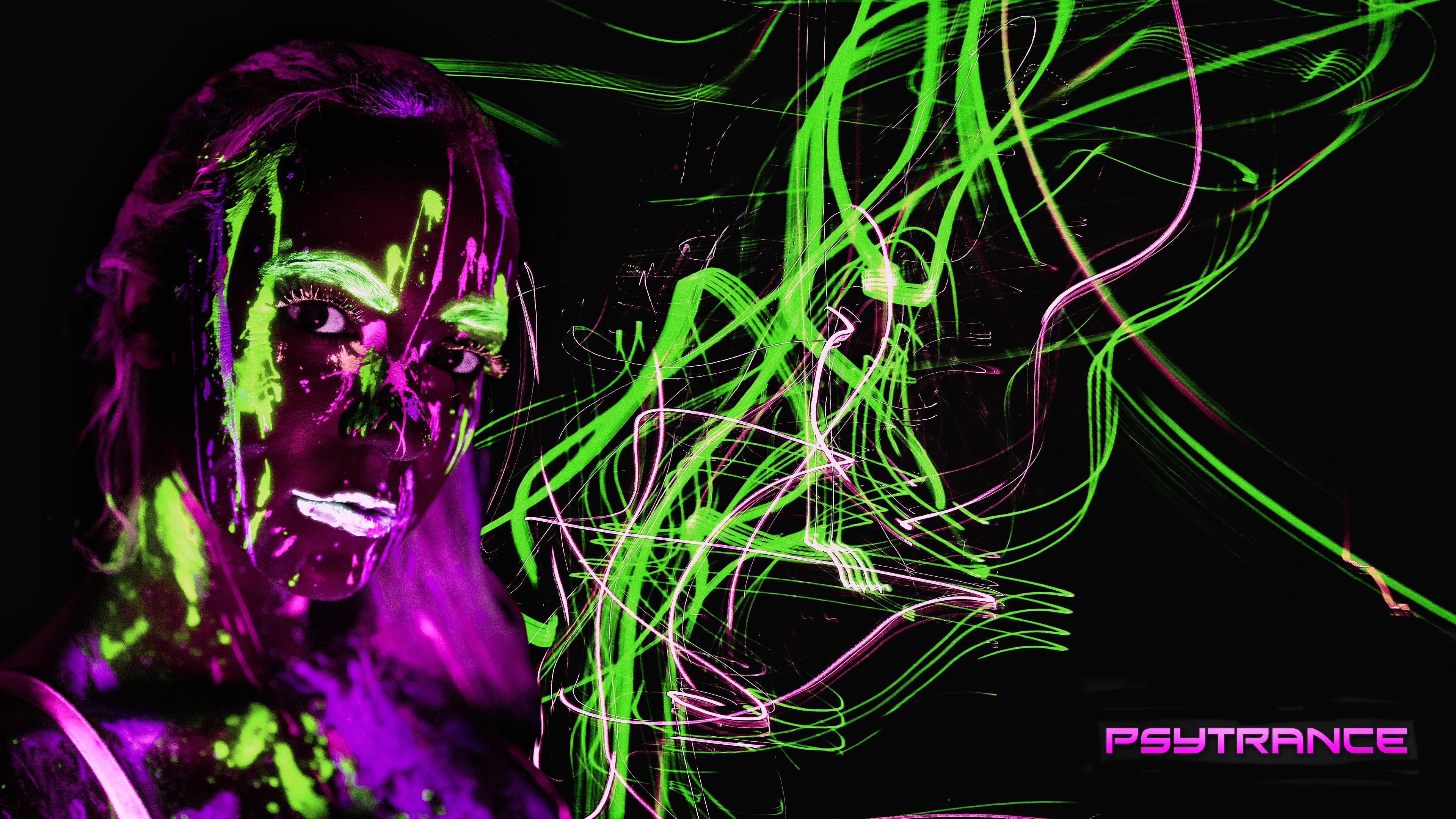 Music Trance Psychedelic Fantasy Art Artwork Fan Art Concept Art Dark Digital Art Dark Background 3840x2160
