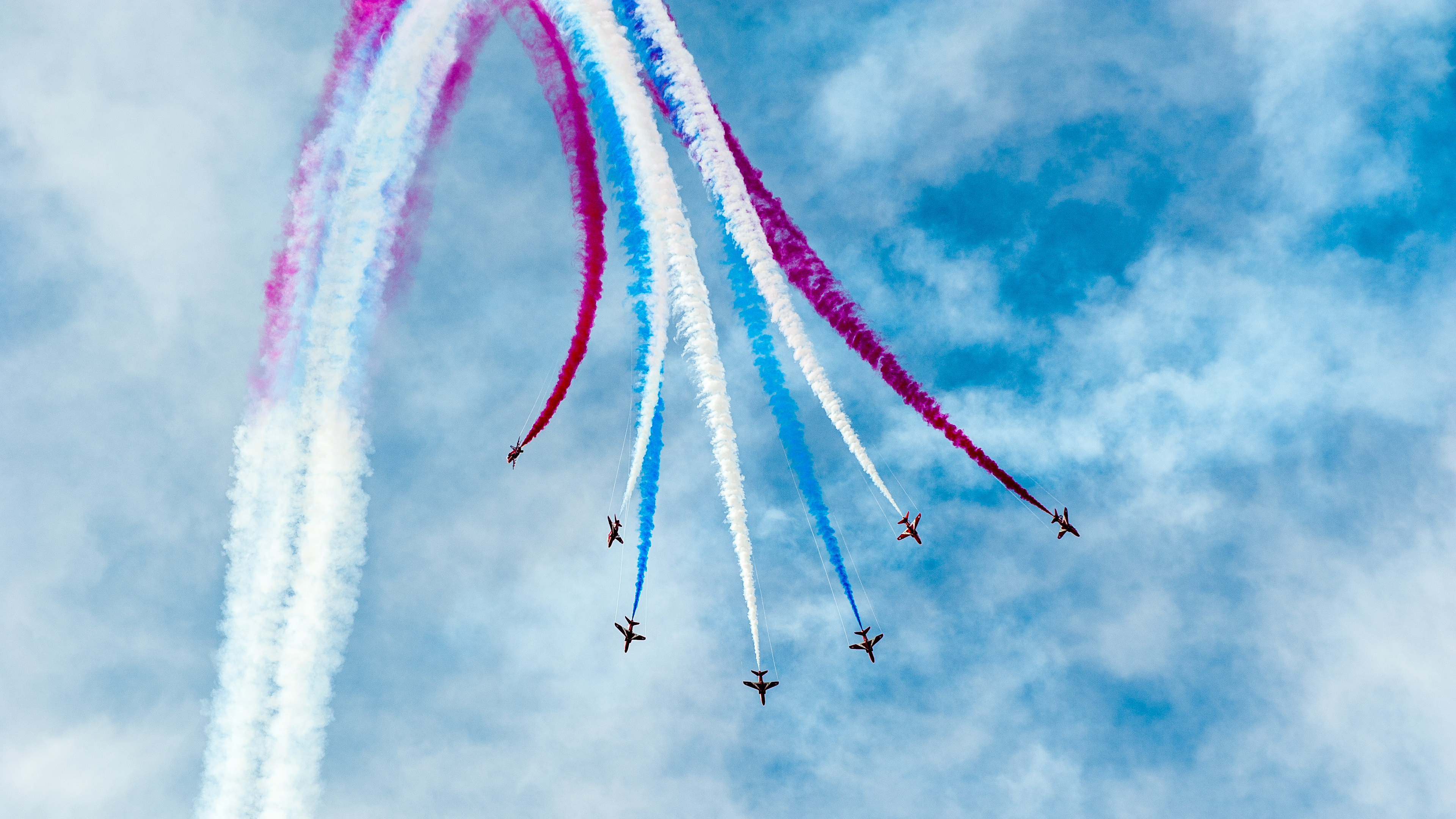 Air Show Aircraft Smoke Airplane 3840x2160