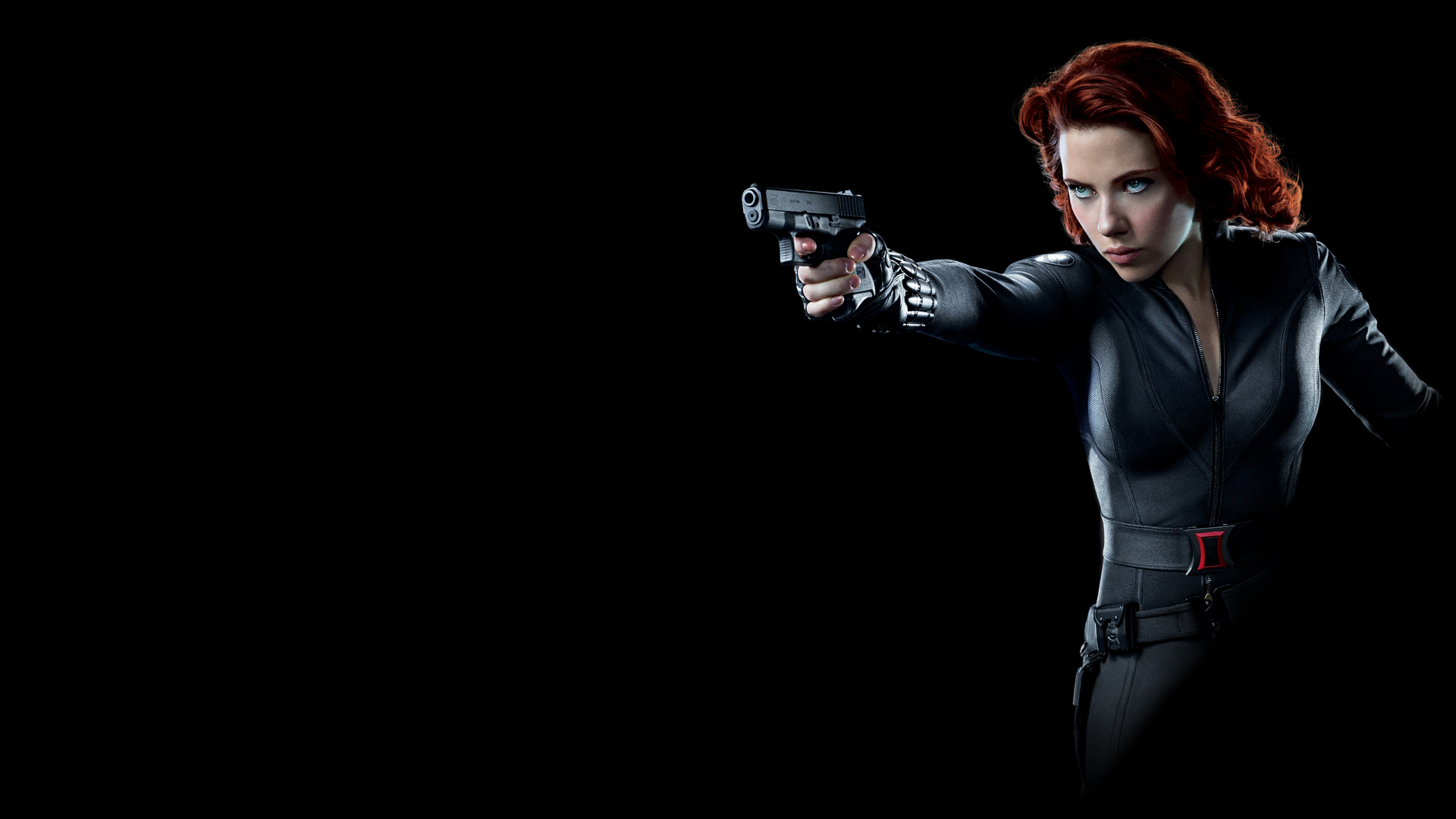 Avengers Scarlett Johansson Black Widow Natasha Romanoff Gun Wallpaper Resolution 1920x1080 Id 571294 Wallha Com