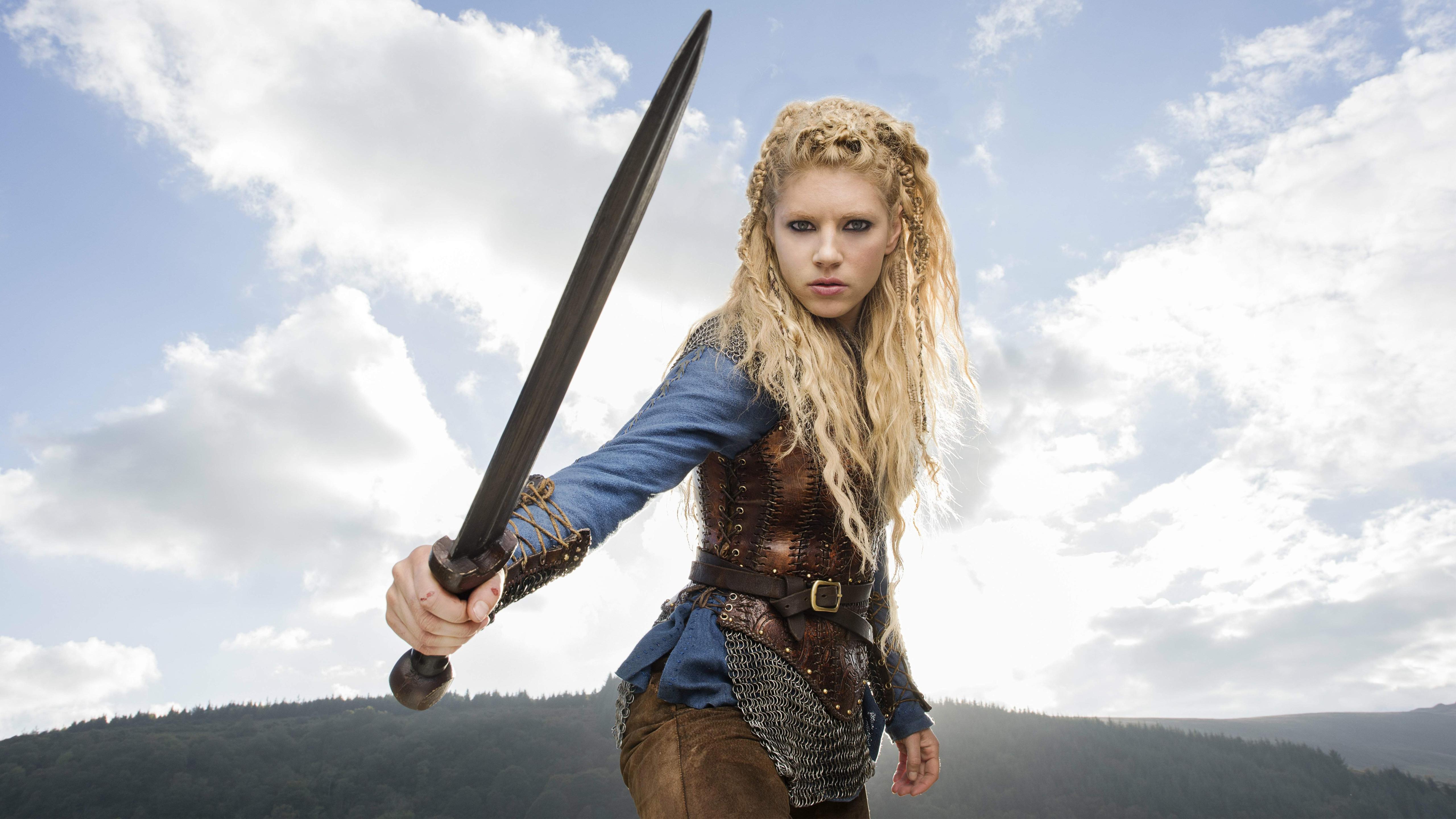 Katheryn Winnick Vikings Lagertha Lothbrok Promos Poster Women Actress Warrior Girls Wallpaper Resolution 5120x2880 Id 540689 Wallha Com