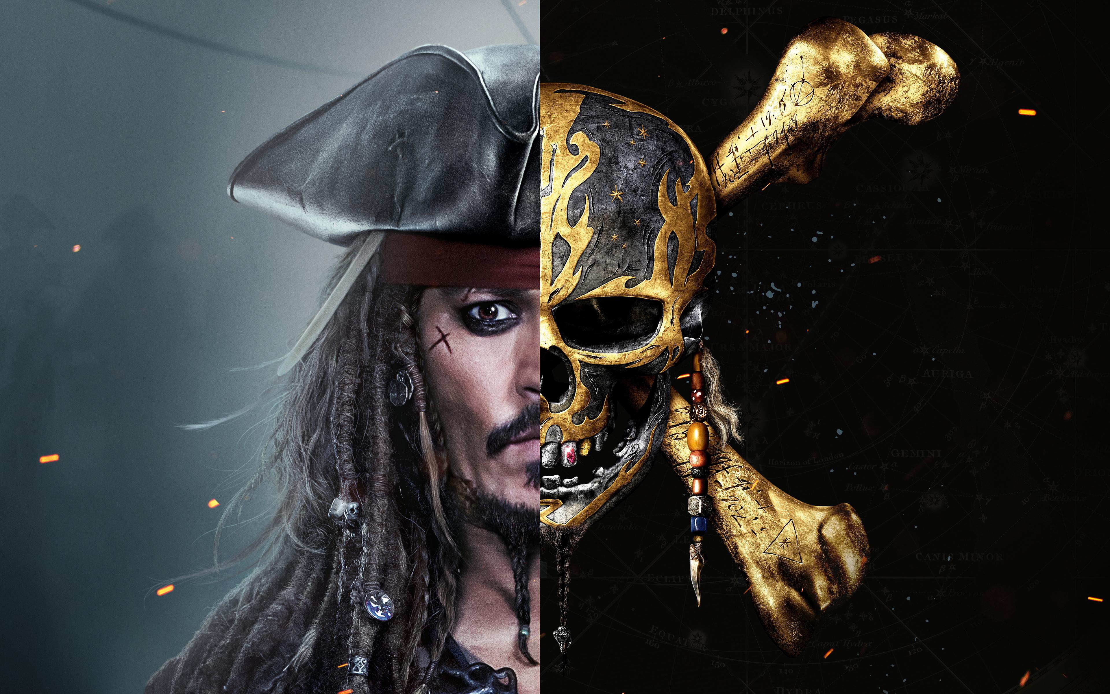 Pirates Of The Caribbean Jack Sparrow Pirates Skull Pirates Of The Caribbean Dead Men Tell No Tales 3840x2400