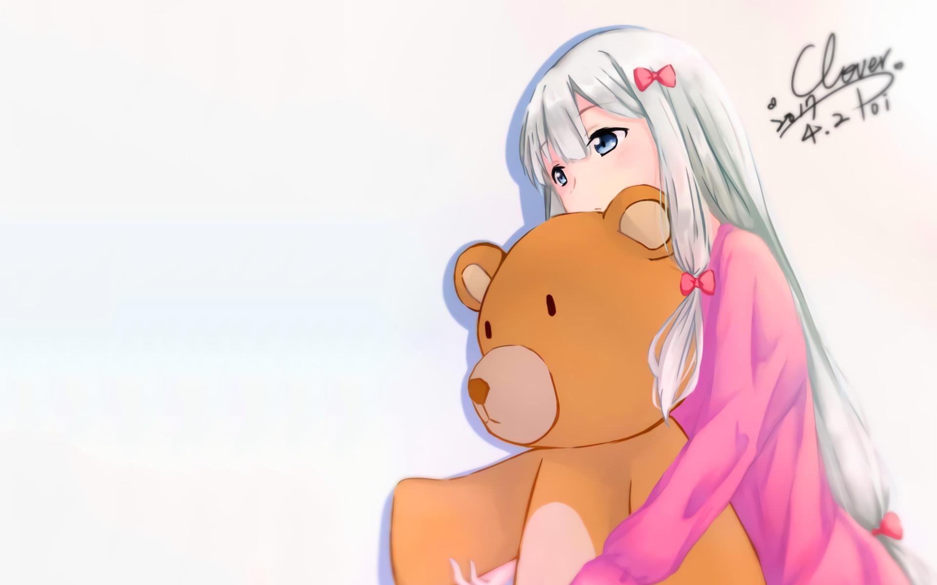 Eromanga Sensei Anime Girls Izumi Sagiri Anime Teddy Bears 1920x1200