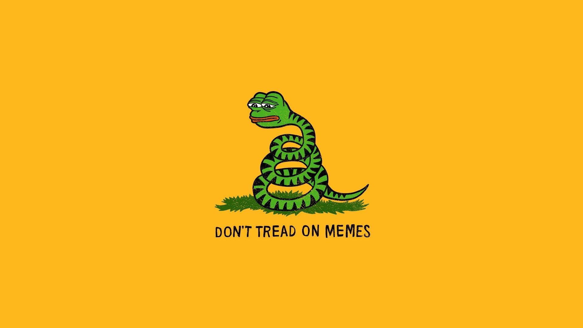 Pepe Meme Gadsden Flag Simple Background Snake Minimalism Memes Wallpaper Resolution 1920x1080 Id 603465 Wallha Com