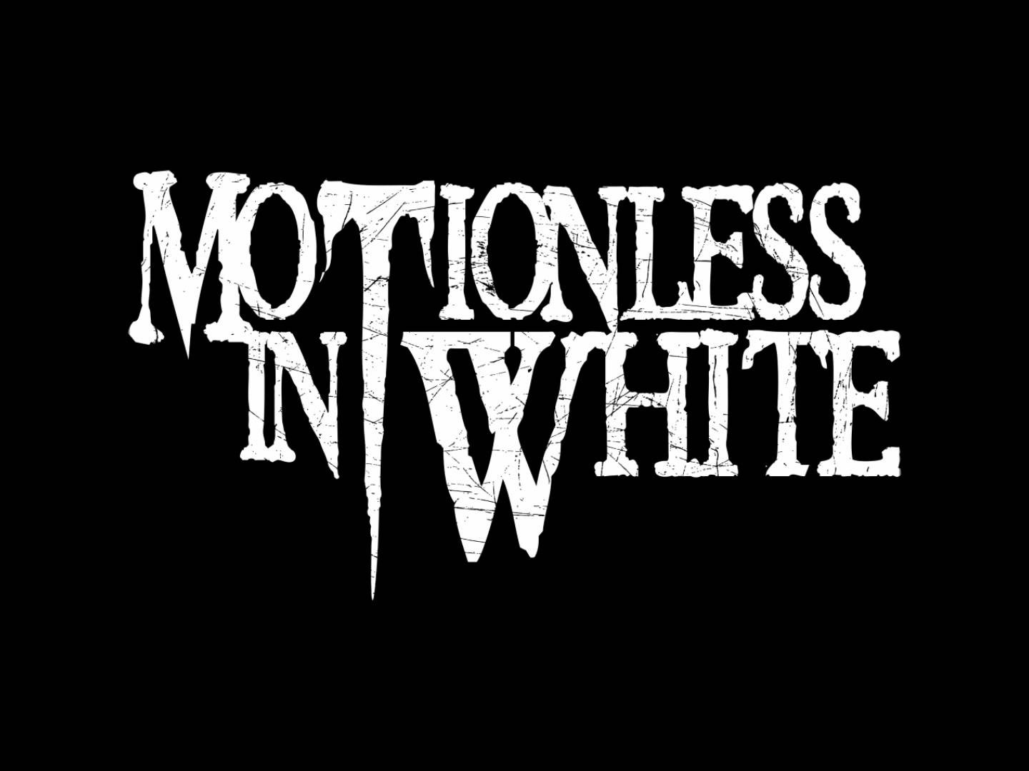 Motionless In White Metalcore Simple Background Typography 1440x1080