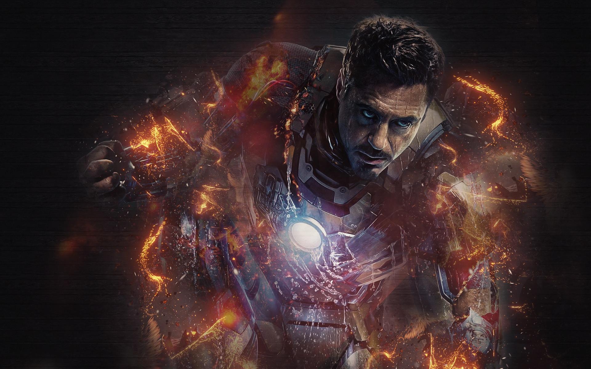 Iron Man 3 Robert Downey Jr Marvel Comics 1920x1200