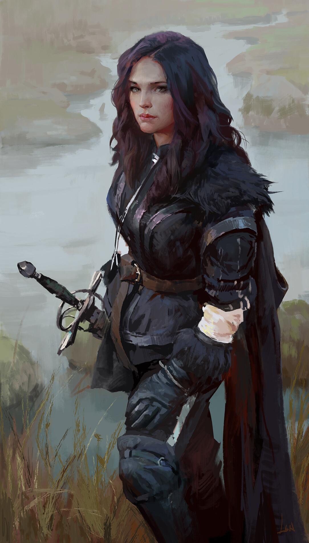 Artwork Women Sword The Witcher Yennefer Yennefer Of Vengerberg Wallpaper Resolution 1084x1900 Id 622223 Wallha Com