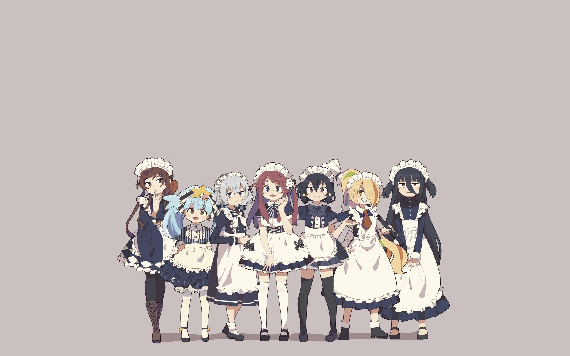 Simple Background Anime Anime Girls Zombieland Saga 1920x1200
