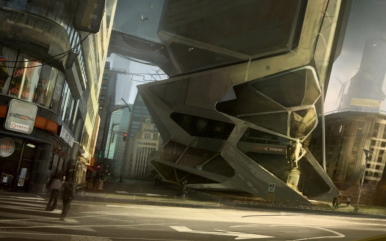 Digital Art Futuristic Science Fiction Futuristic City 1280x800
