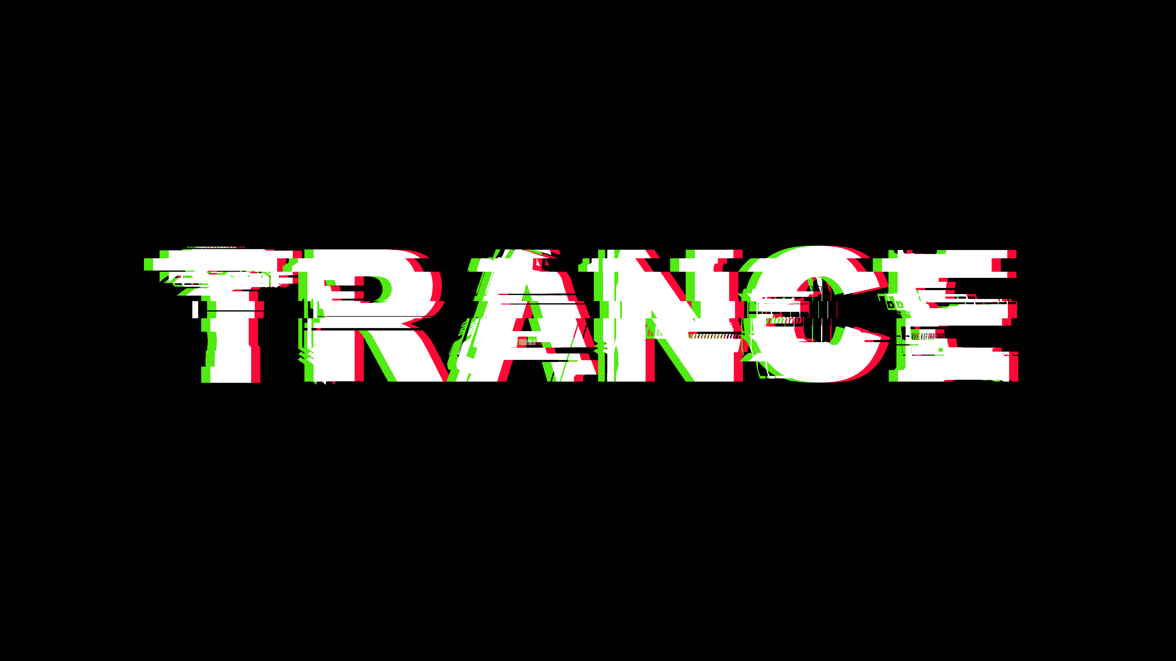 Trance Electronic Music Typography Simple Background Black Background Minimalism 3840x2160
