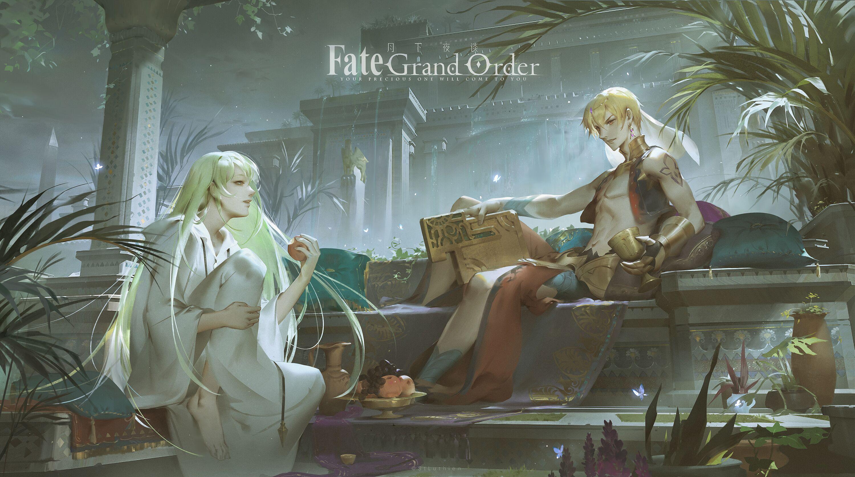 Fate Series Fgo Fate Grand Order Anime Boys Long Hair Short Hair Open Mouth Enkidu Fgo Gilgamesh App Wallpaper Resolution 3000x1676 Id 681852 Wallha Com