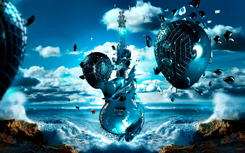 Blue Horizon Guitar Fantasy 2880x1800