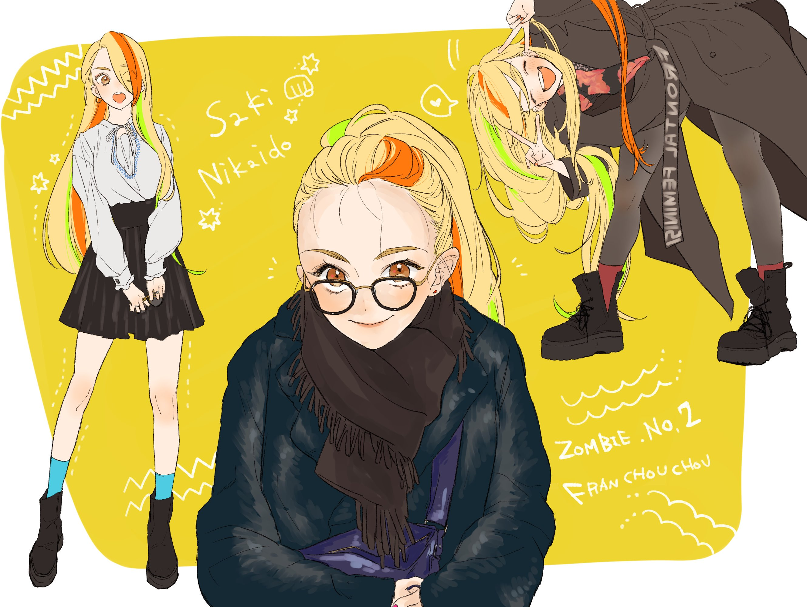 Zombieland Saga Anime Girls School Uniform Zombie 2 Saki Nikaidou 2659x2000