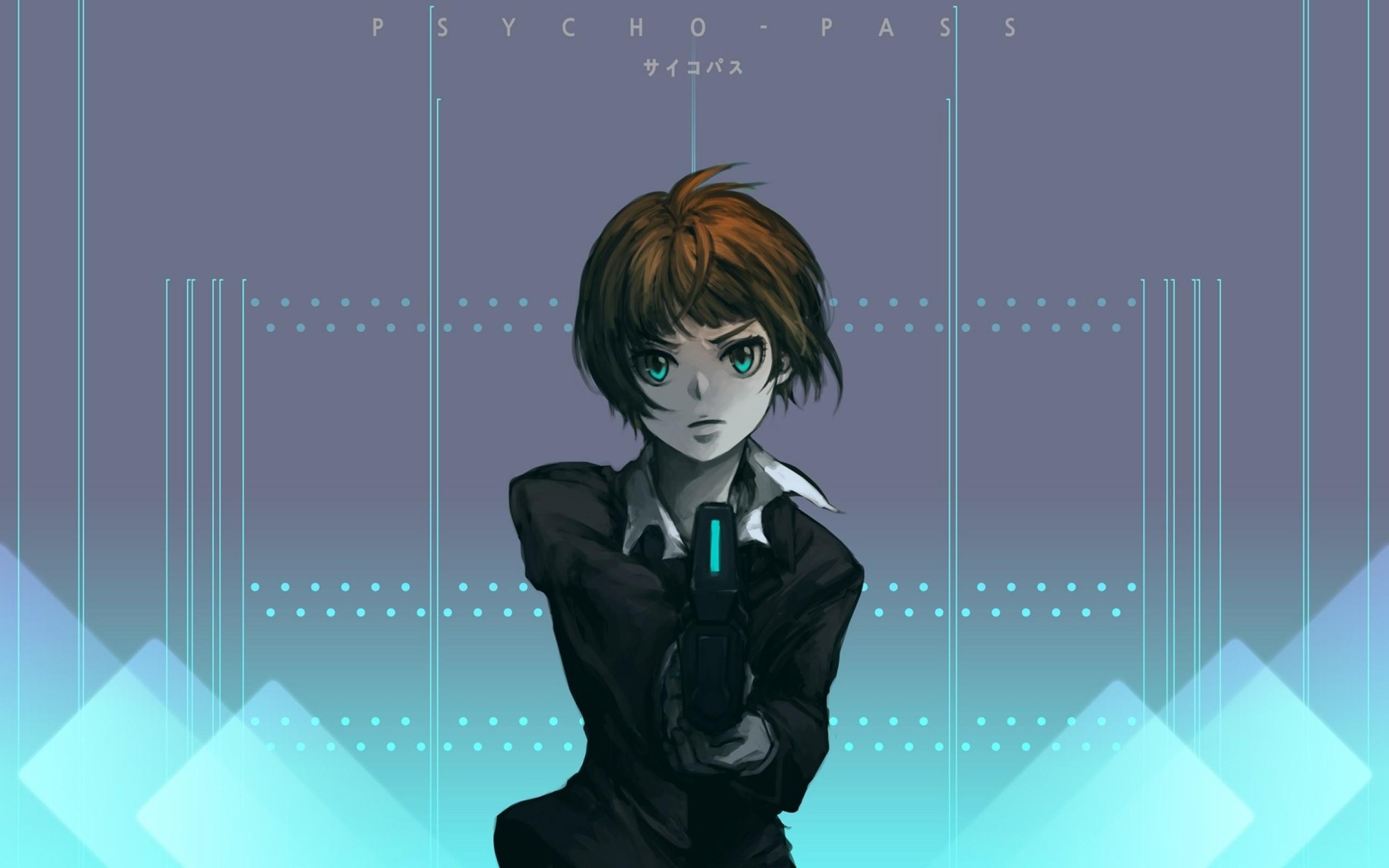Psycho Pass Anime Anime Girls Tsunemori Akane Cyan Wallpaper Resolution 2560x1600 Id 625490 Wallha Com